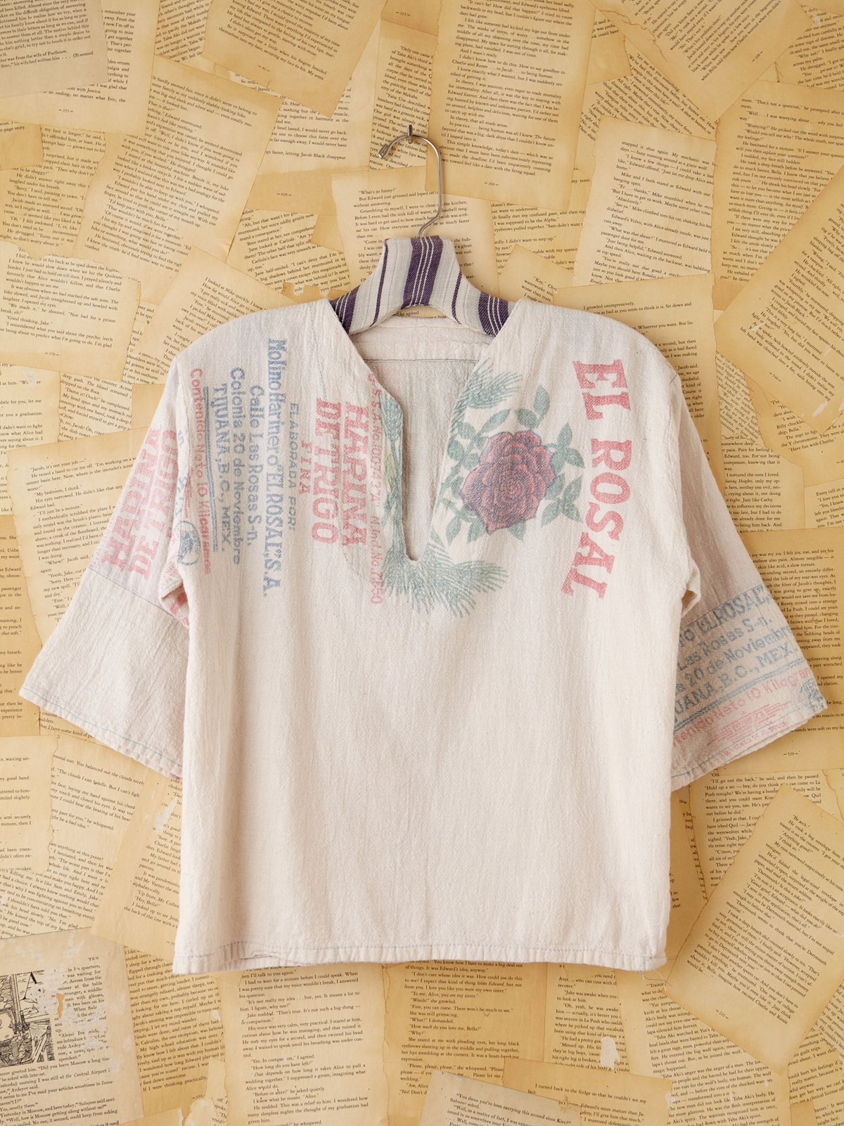 Vintage White Tortilla Bag Top