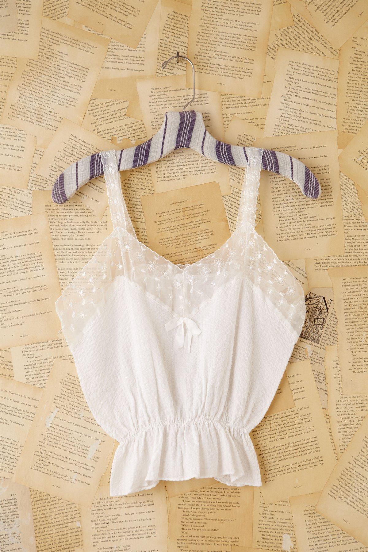 Vintage White Seersucker Cami