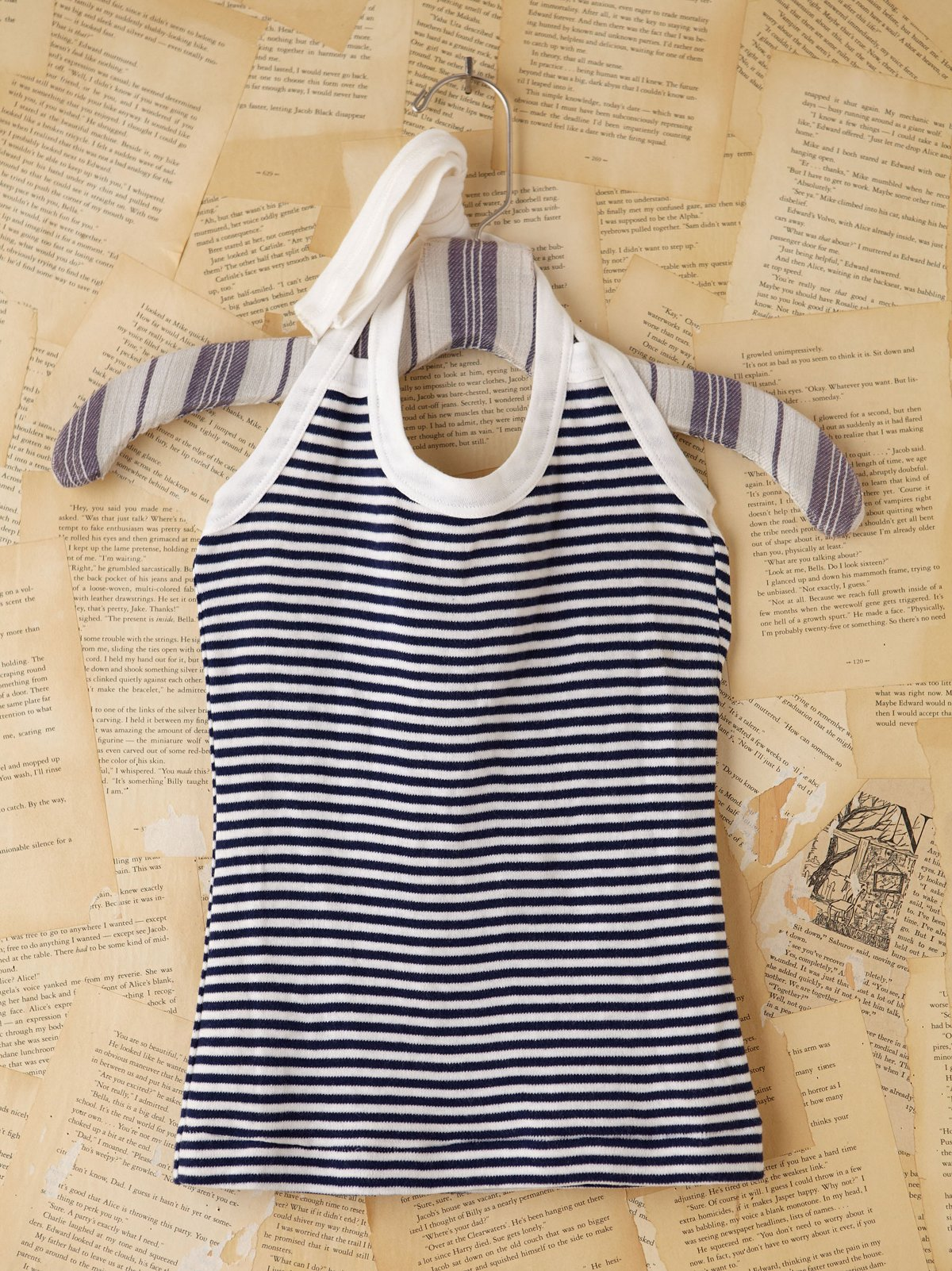 Vintage Navy and White Striped Halter Top