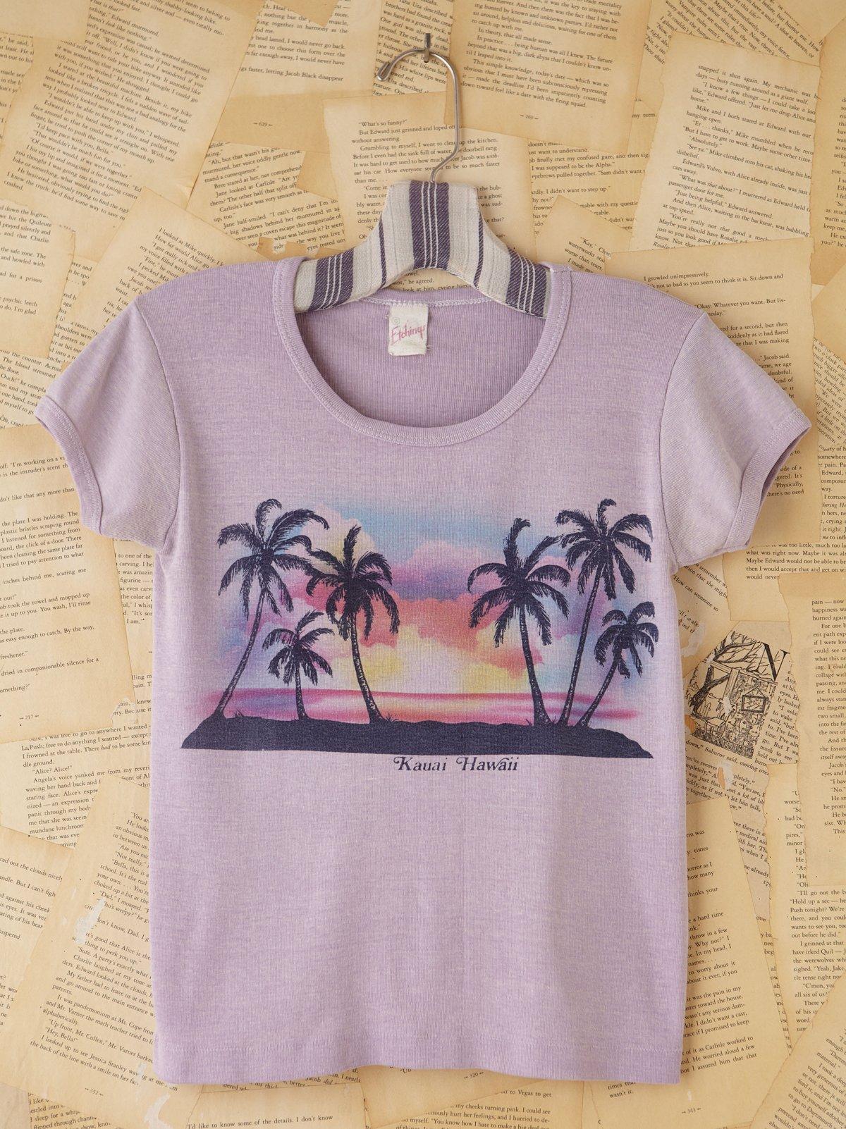 Vintage Purple Hawaii Graphic Tee