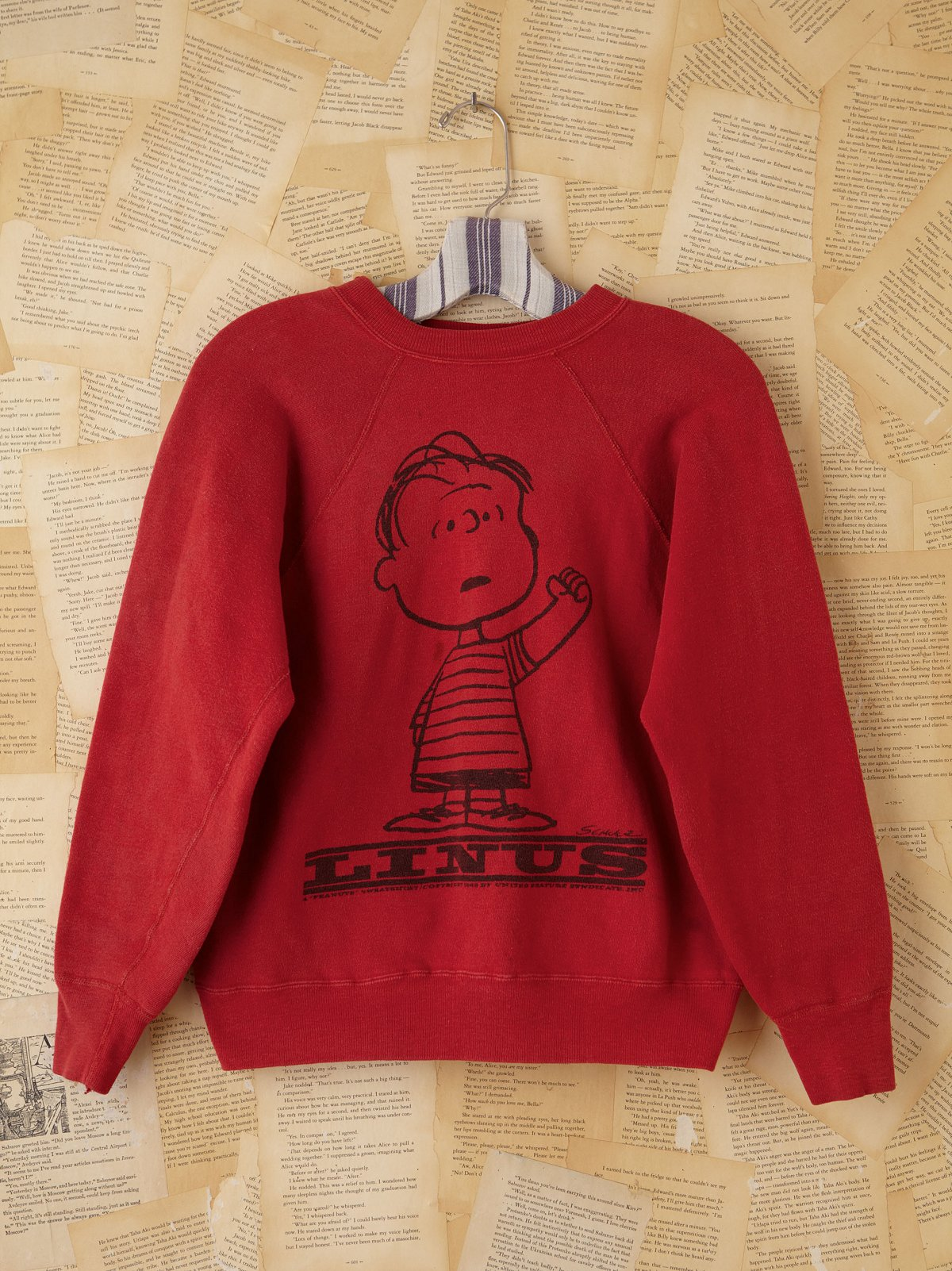 Vintage Red Snoopy Sweatshirt