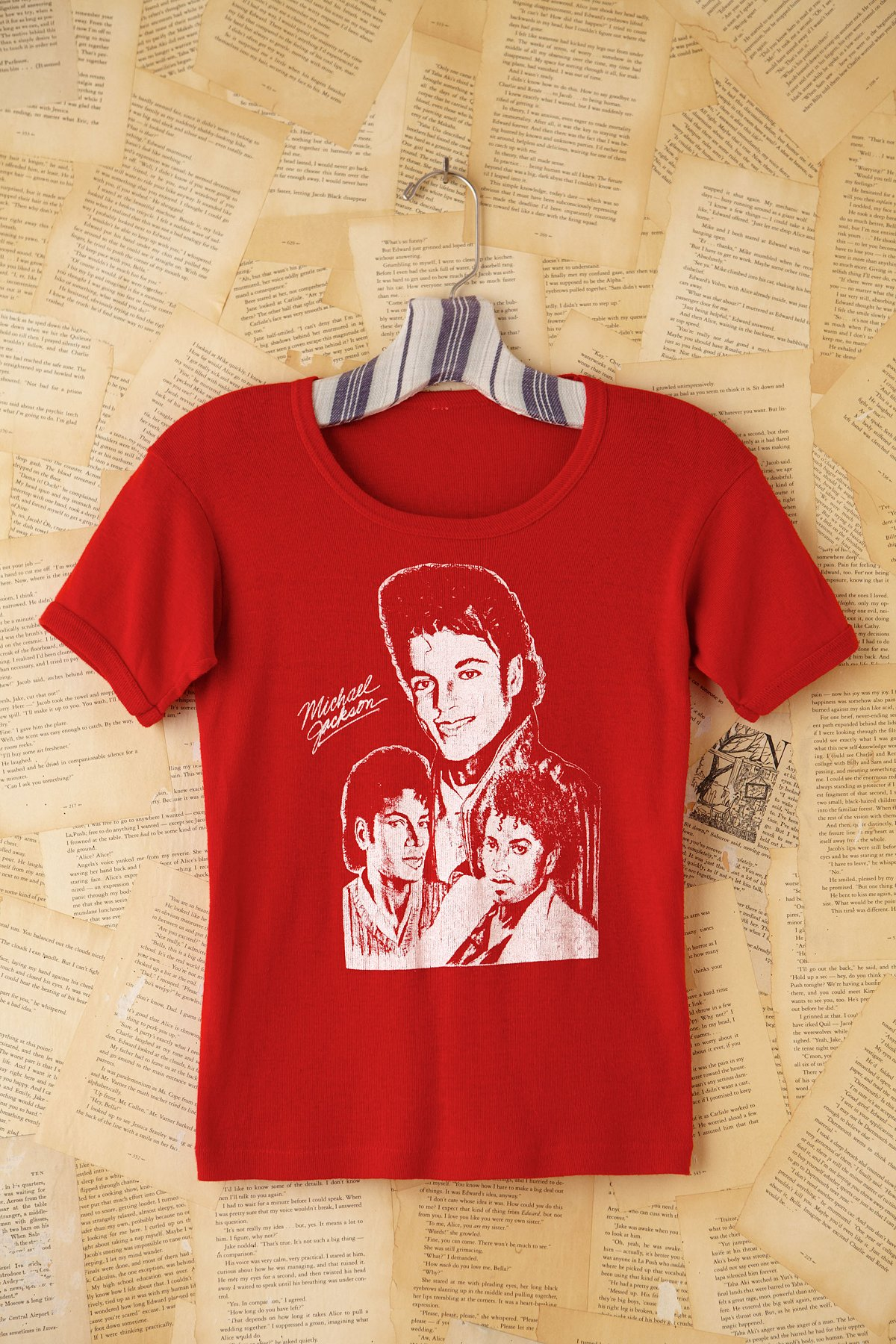 Vintage Red Michael Jackson Graphic Tee