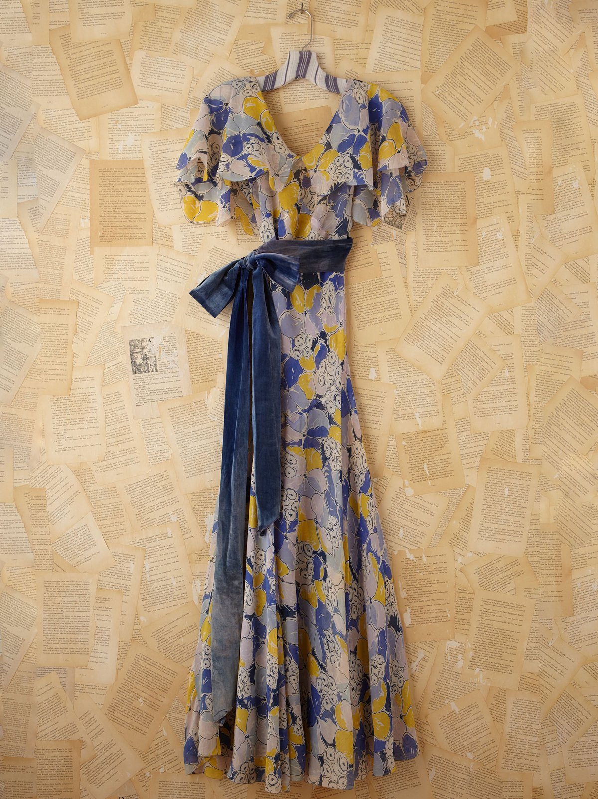 Vintage 30s Silk Chiffon Dress