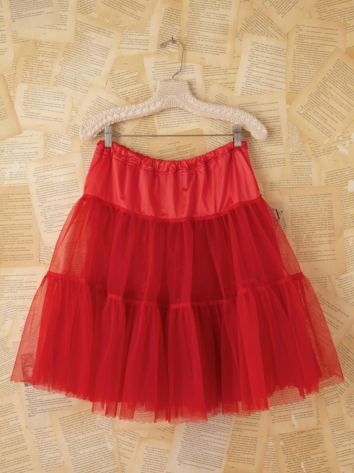 Vintage Red Tulle Slip Skirt