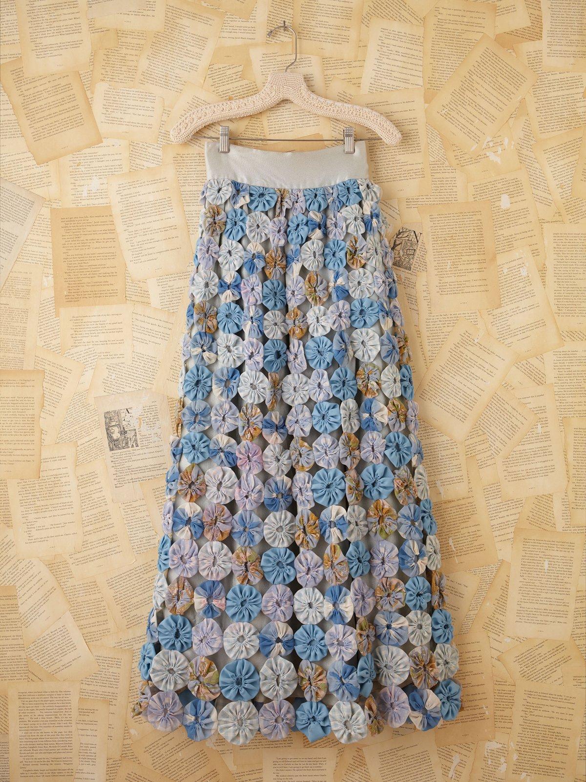 Vintage 1970s Multi-Fabric Maxi Skirt