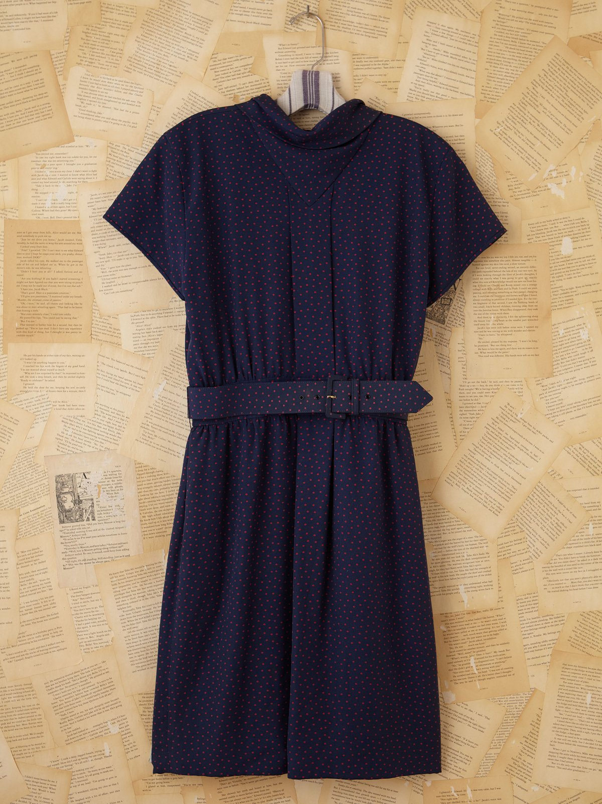 Vintage Valentino Blue Polka Dotted Dress