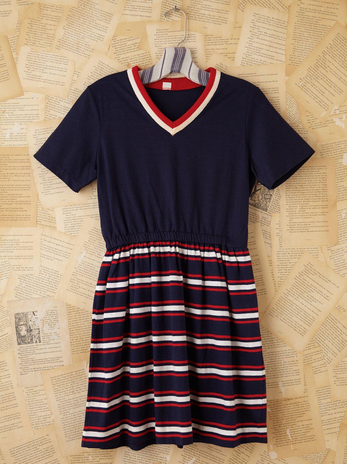 Vintage Patriotic Stripe Dress