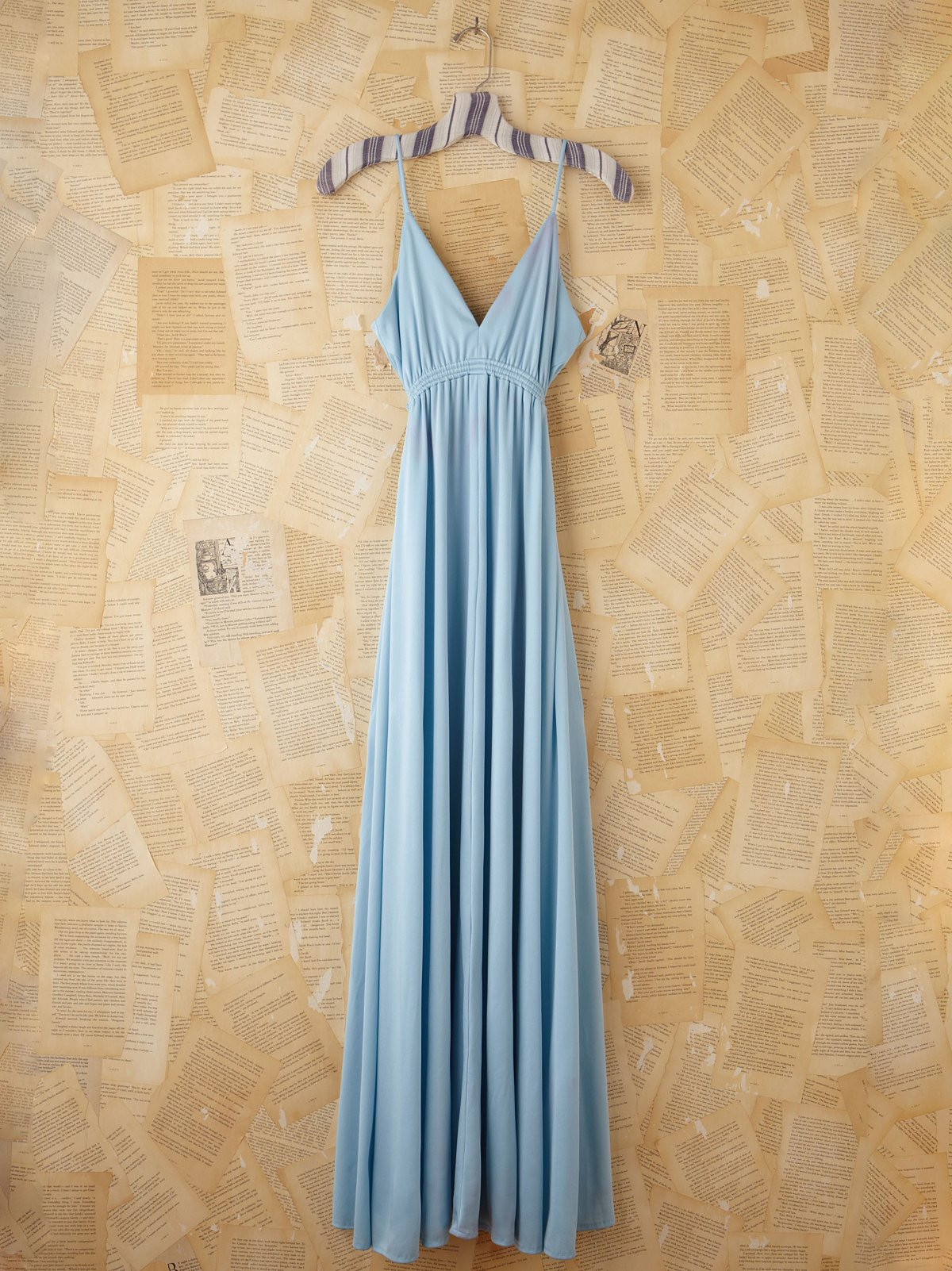 Vintage Blue Maxi Dress