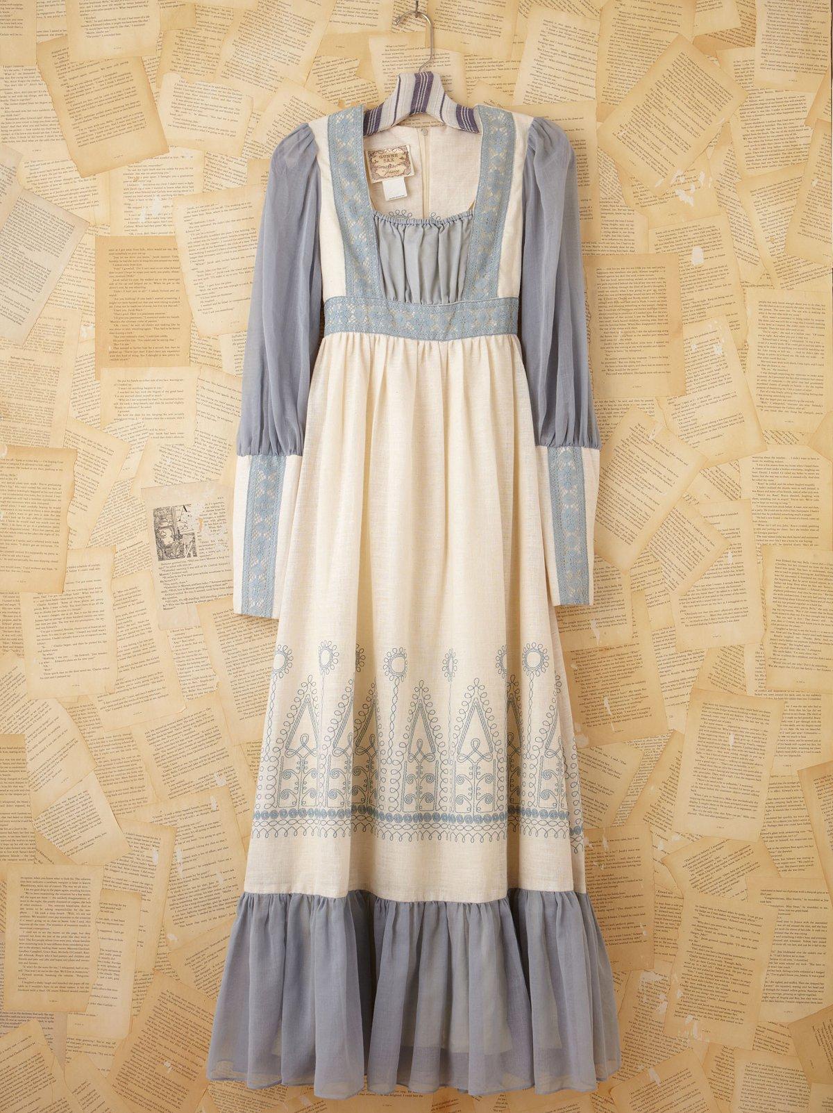 Vintage Blue and White Gunne Sax Dress