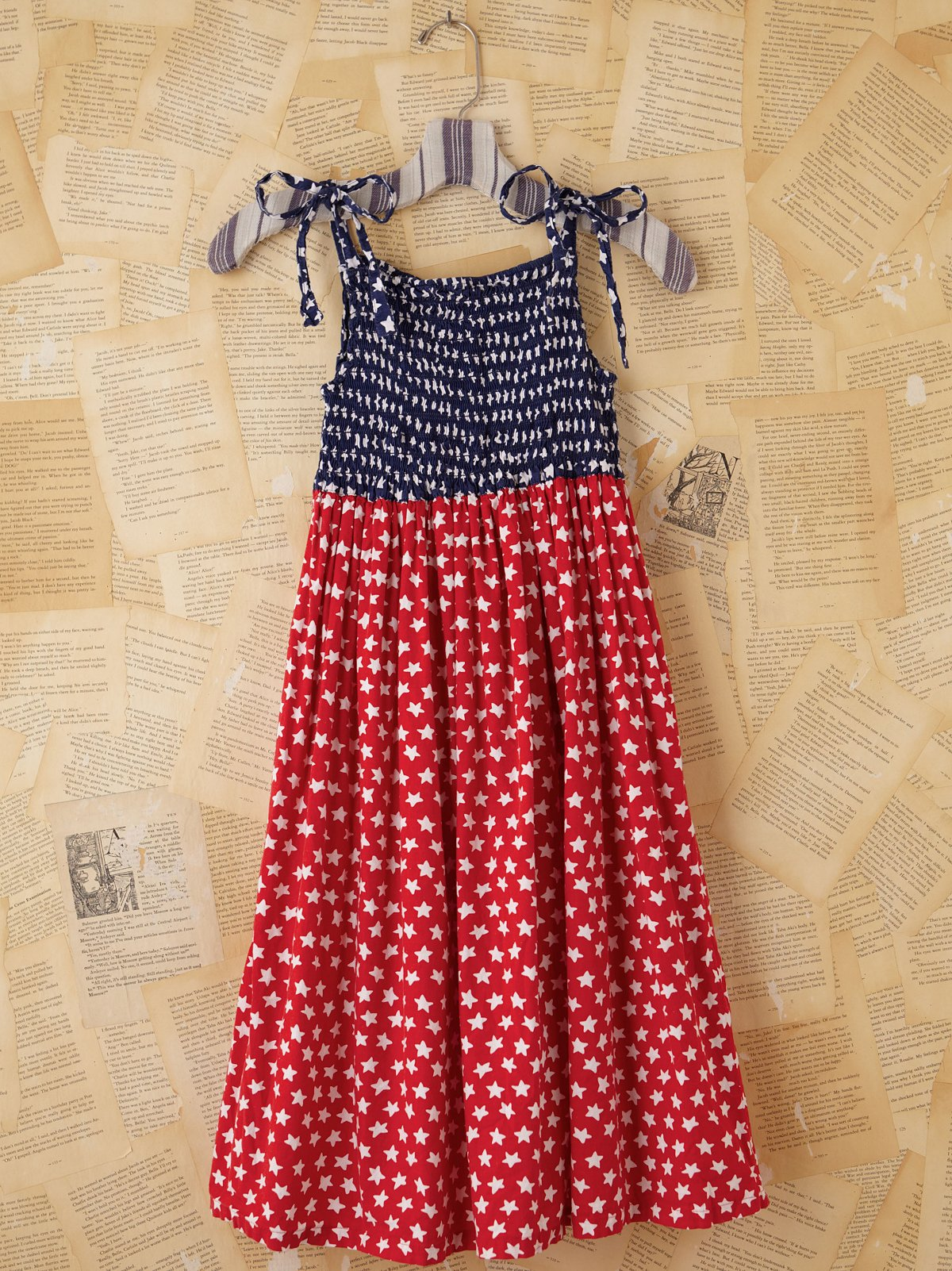 Vintage Patriotic Star Babydoll Dress
