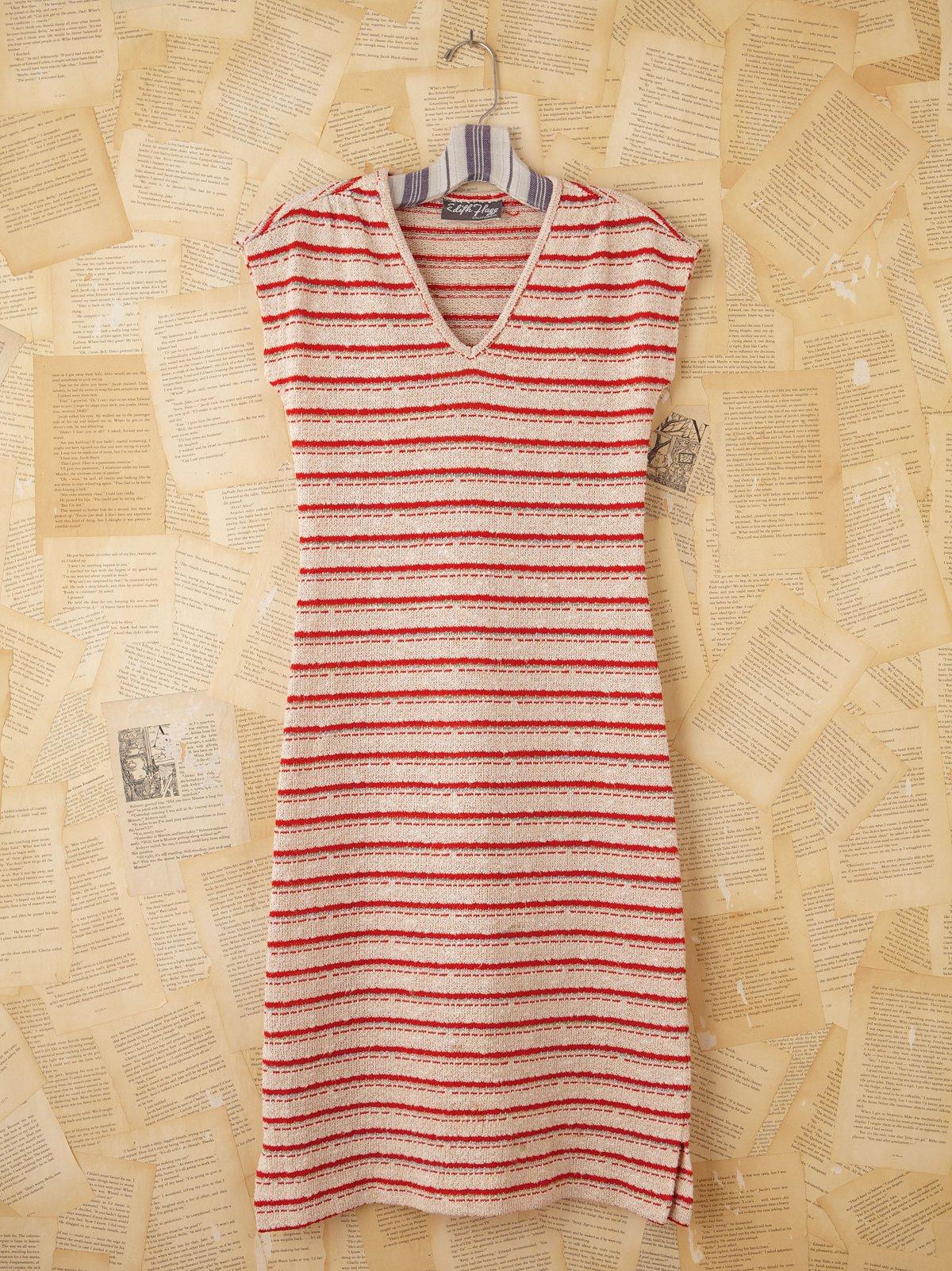 Vintage Multicolor Stripe Knitted Dress