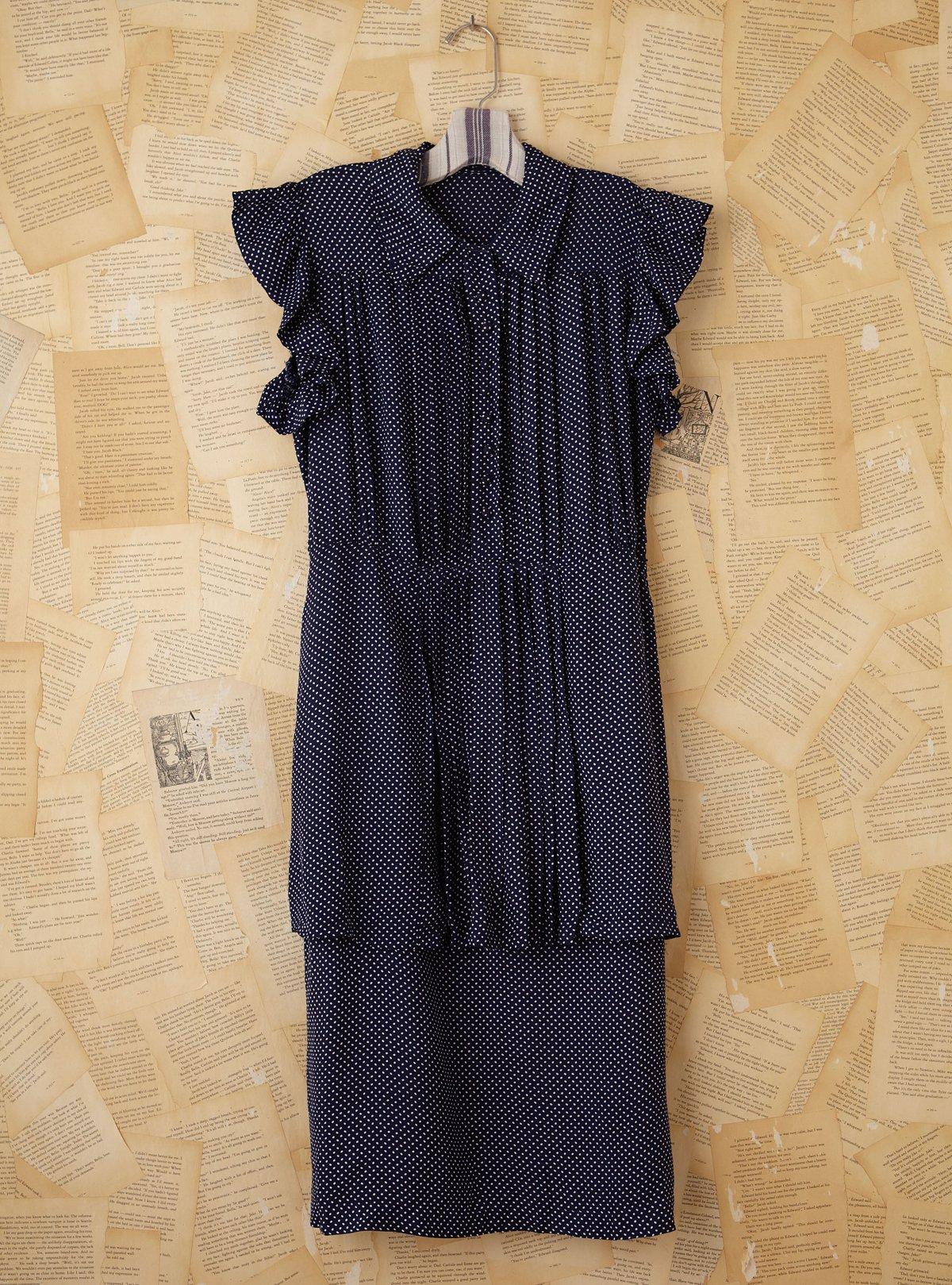 Vintage Blue Polka Dotted Dress