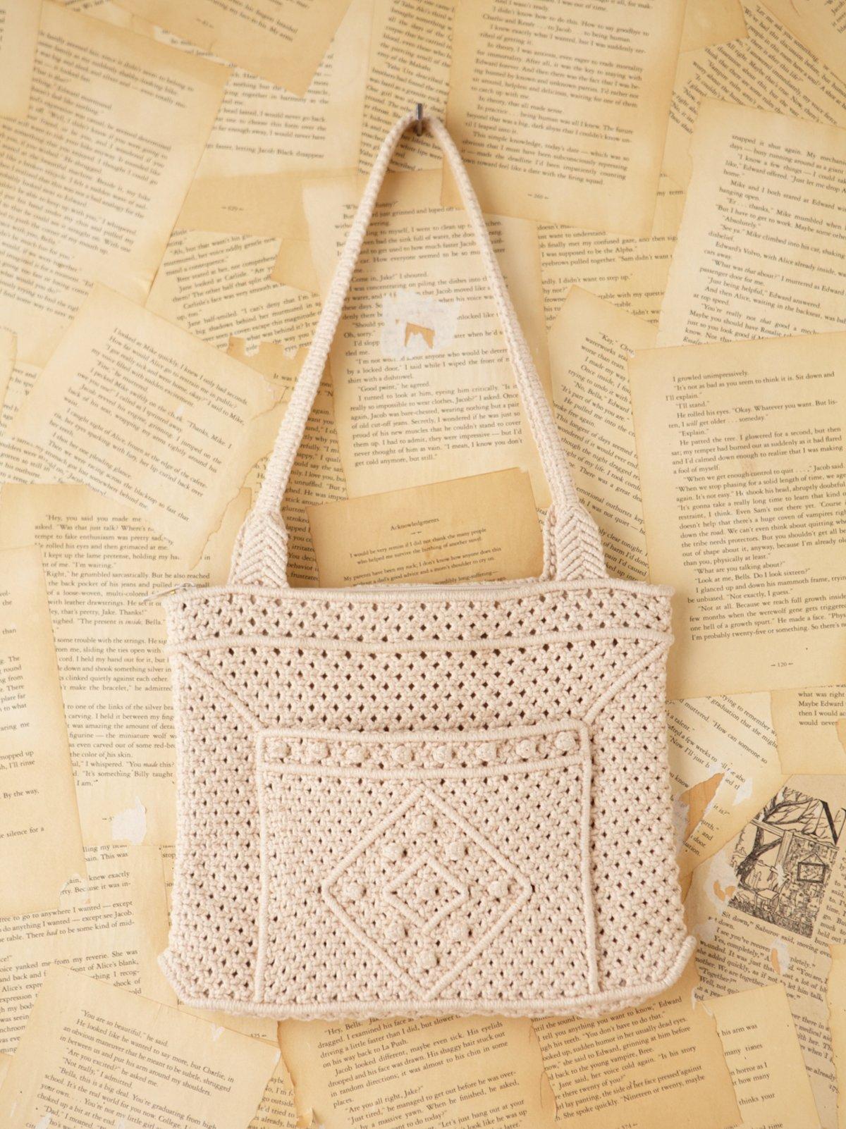 Vintage Macrame Shoulder Bag