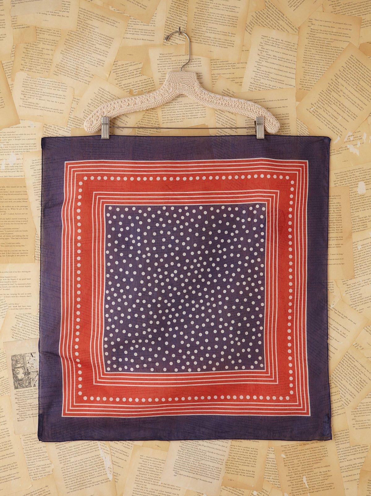 Vintage Patriotic Dotted Silk Scarf