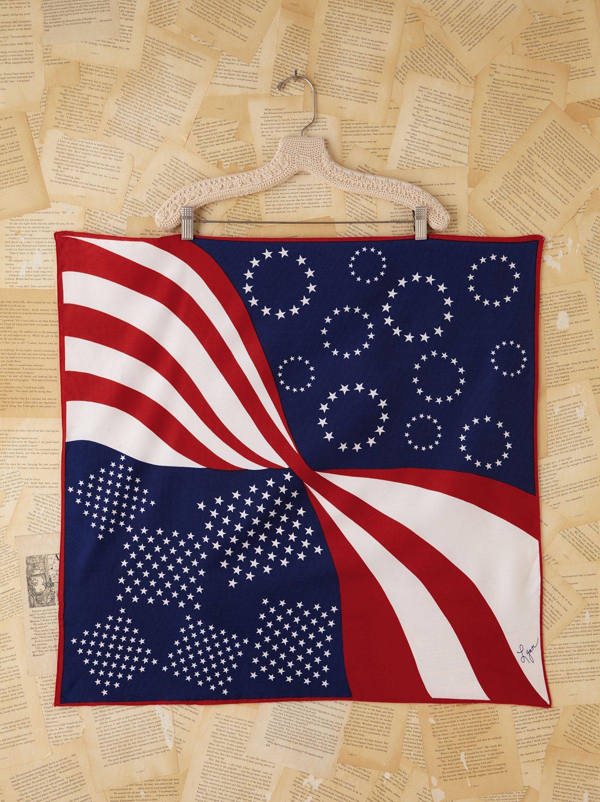 Vintage Flag Printed Scarf