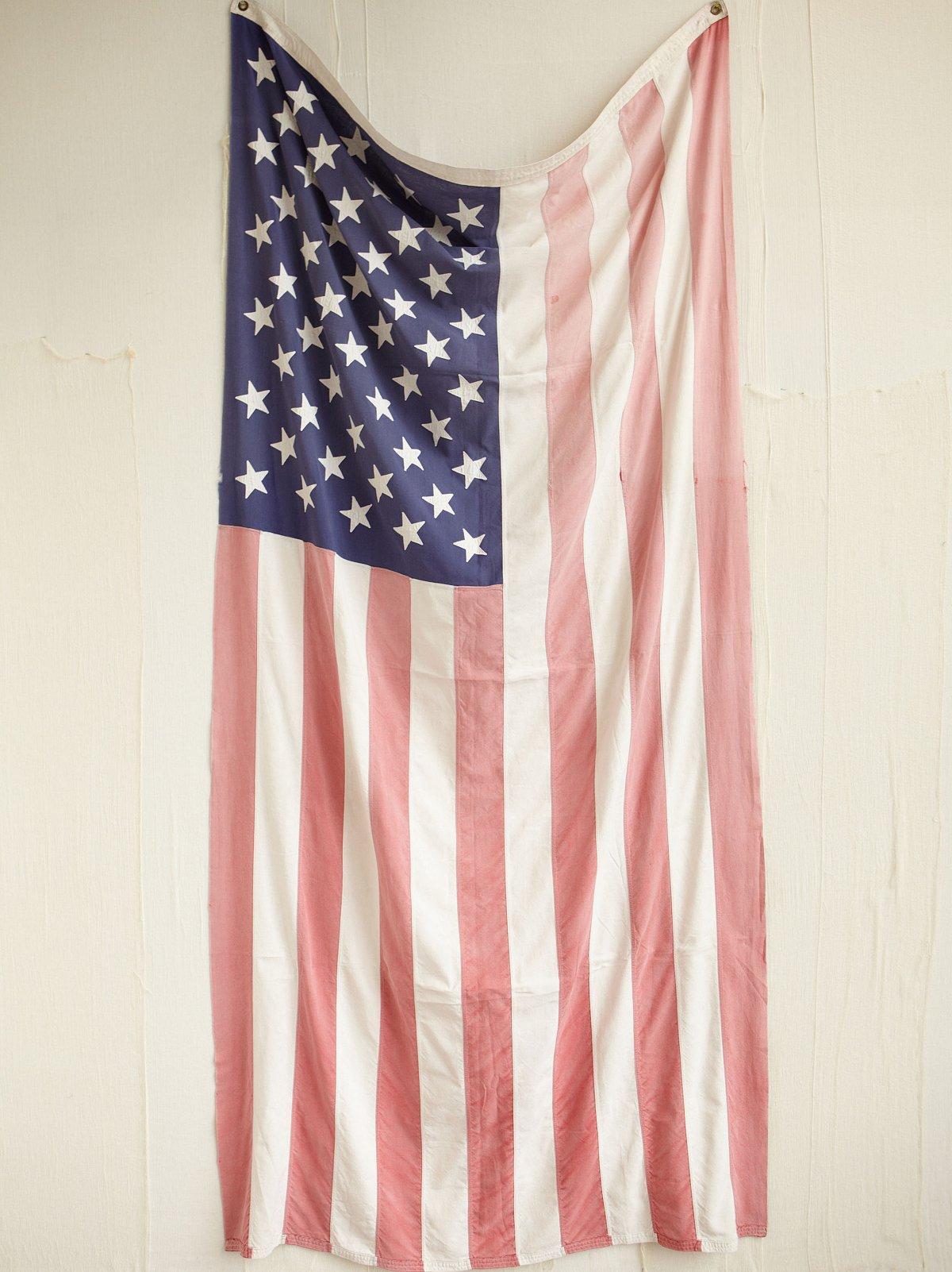 Vintage Faded American Flag