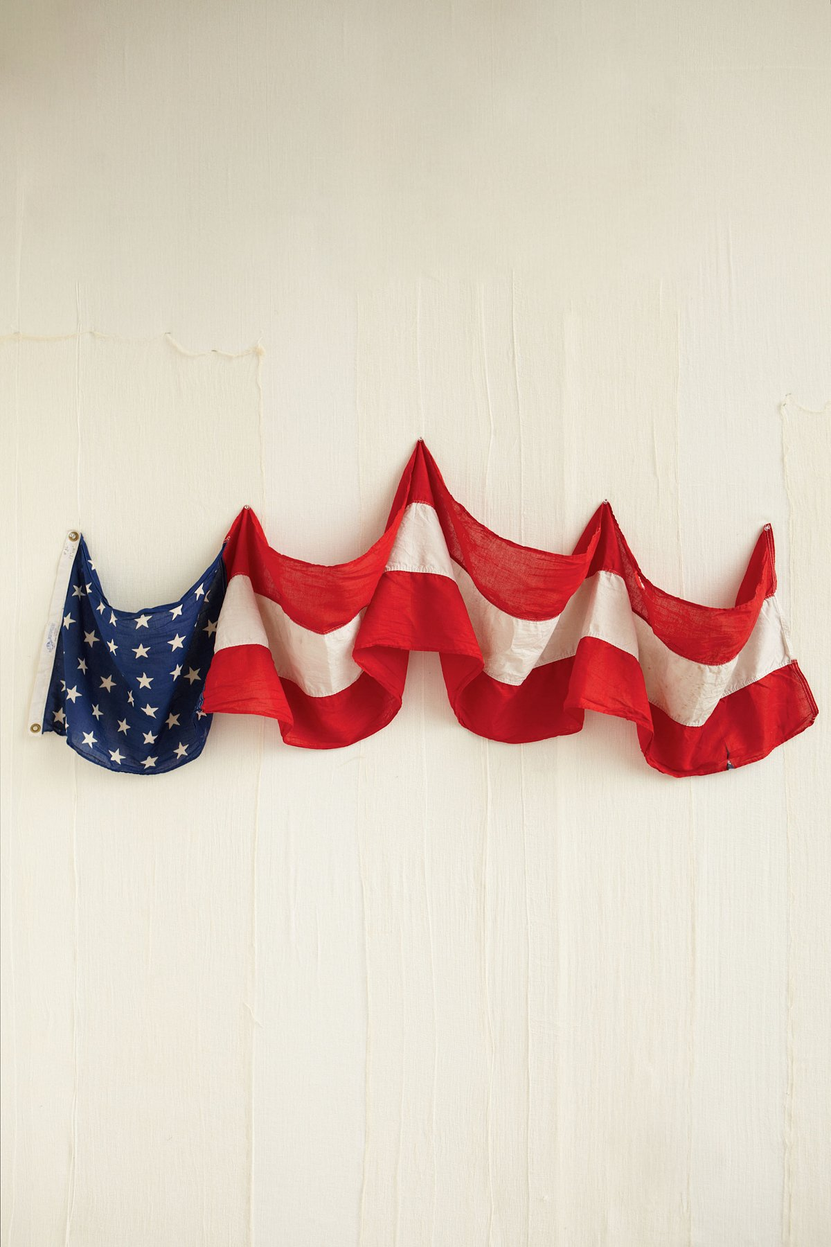 Vintage Red, White, and Blue Banner