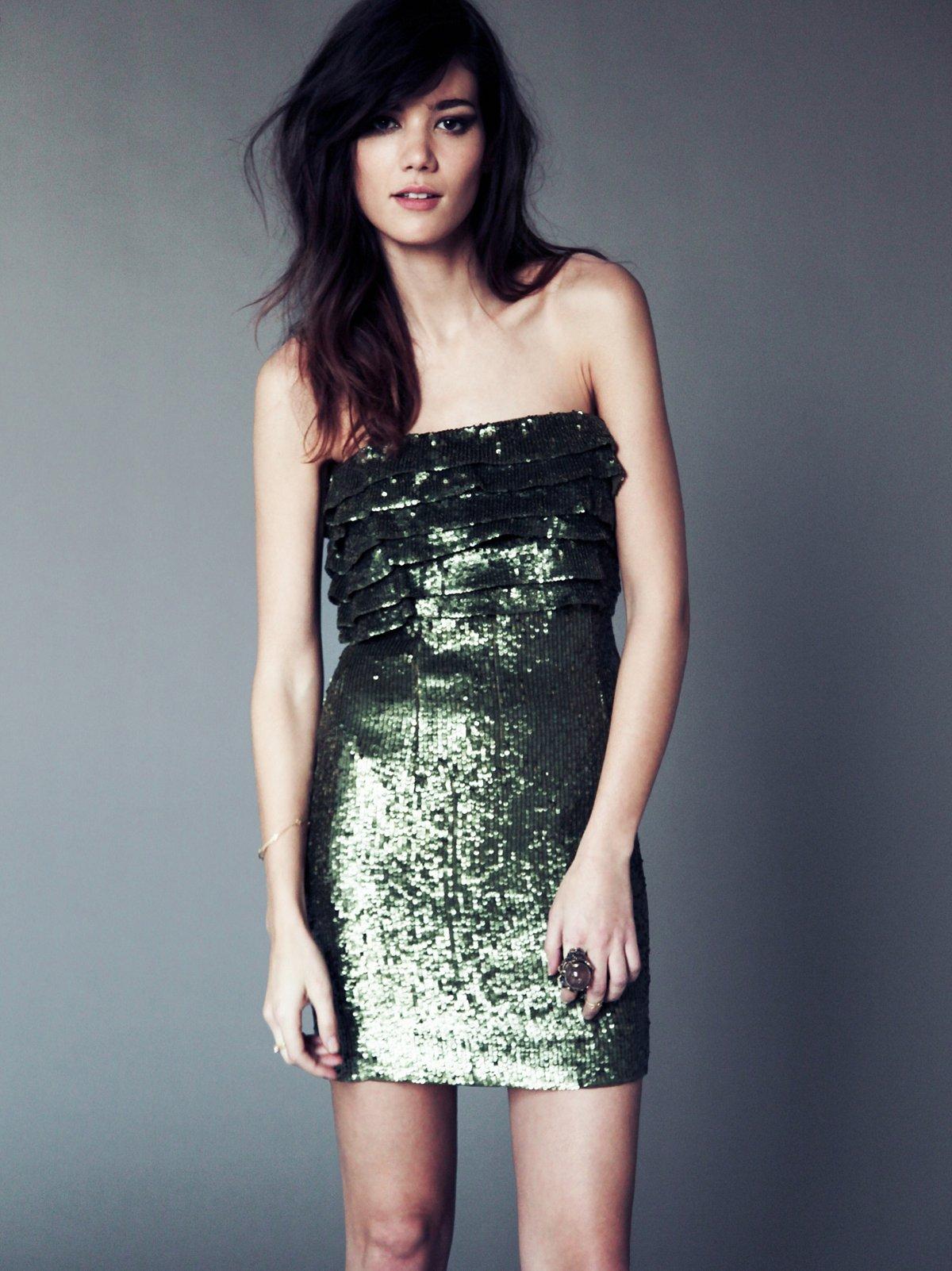 Ruffled Verse Party Dress