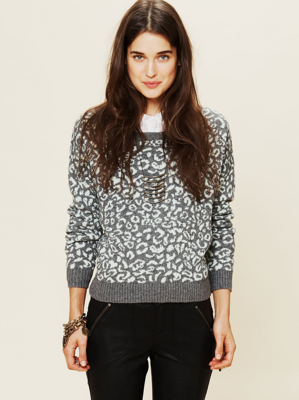 Cool Cat Leopard Pullover