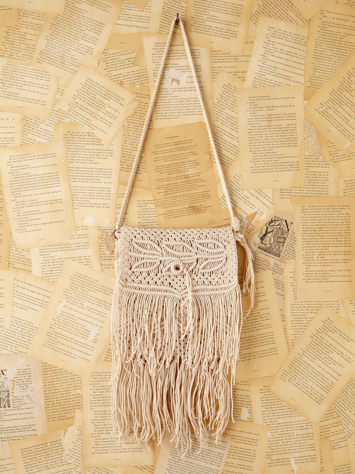 Vintage Crochet Macrame Handbag