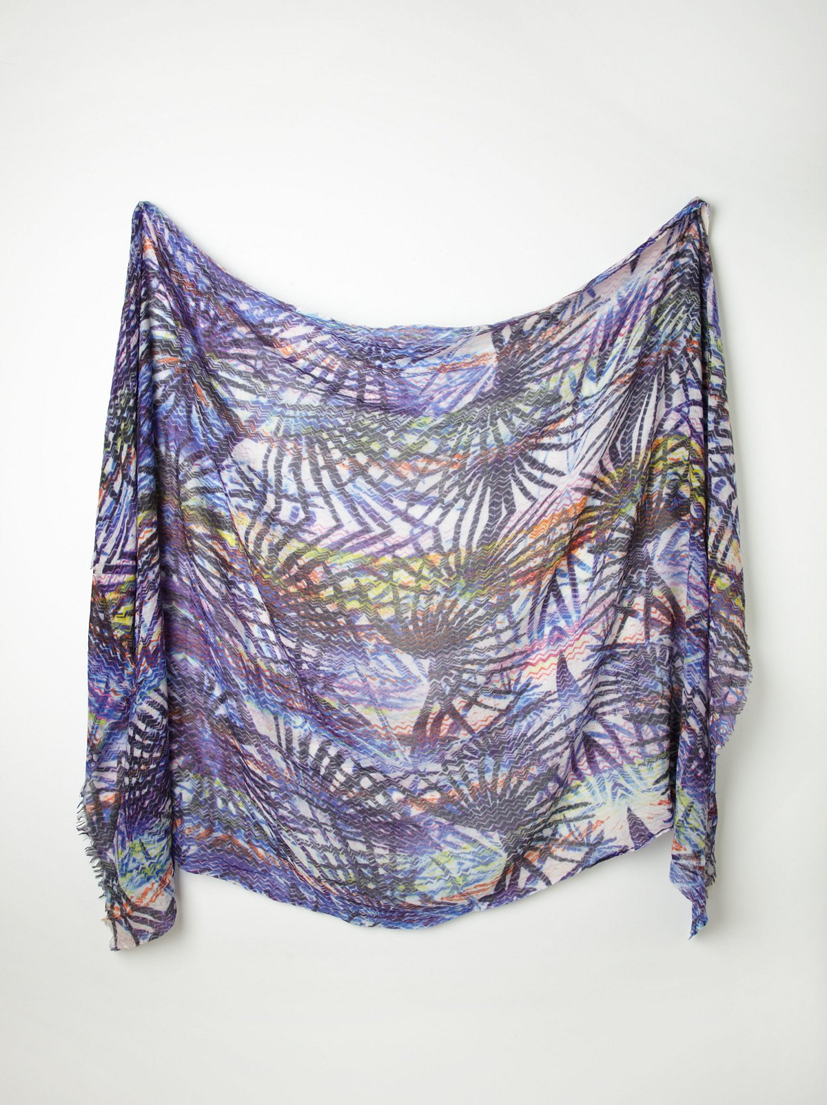 Printed Silk Wool Scarf