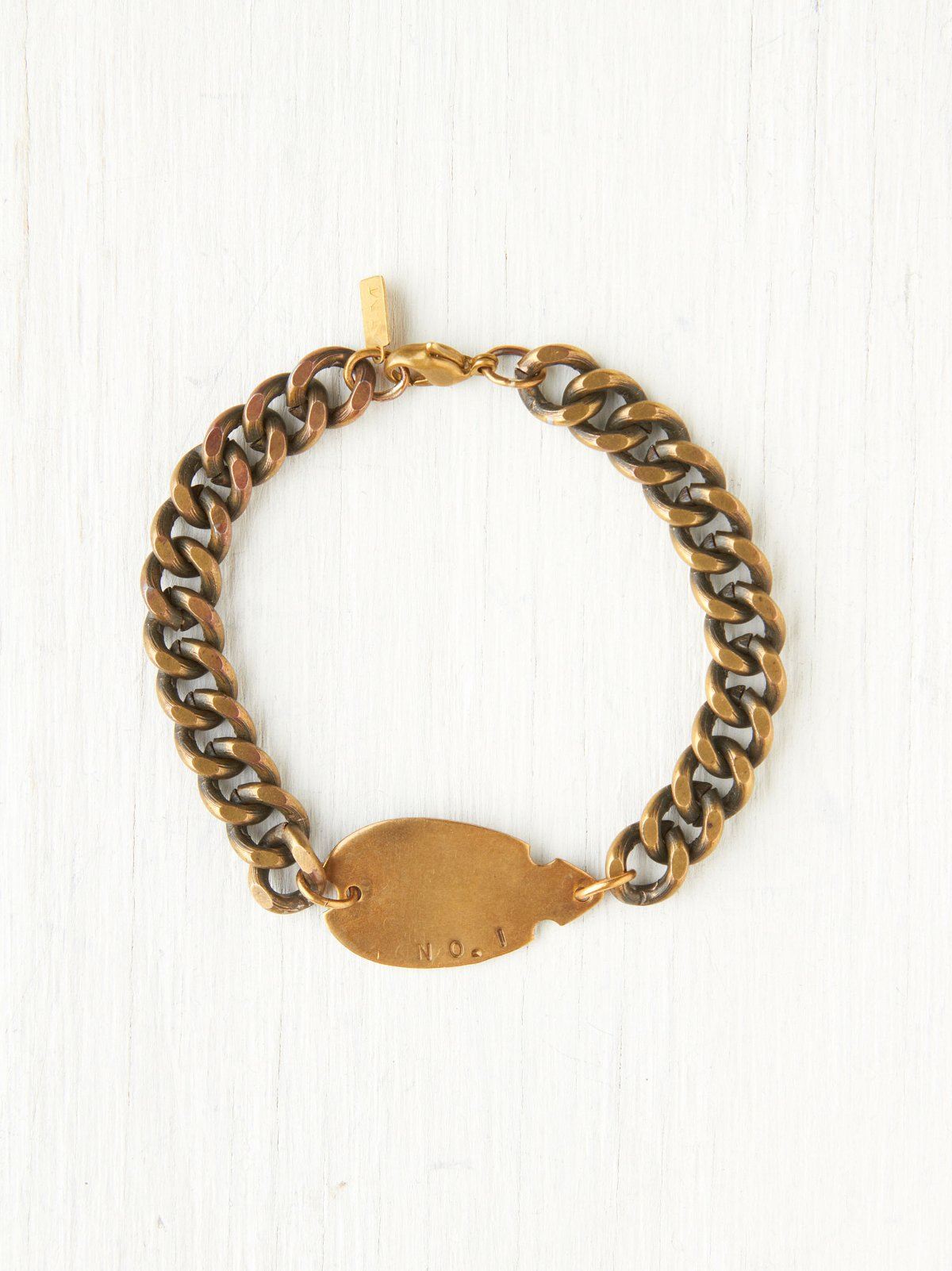 Thick Chain Arrowhead ID Bracelet