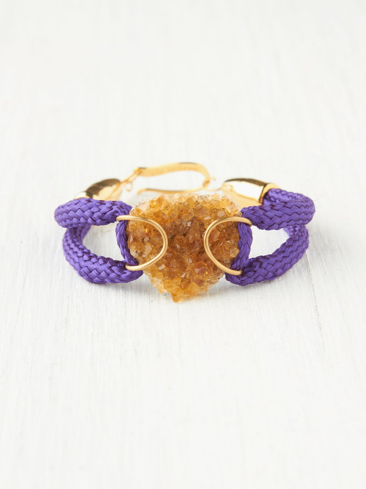 Rope and Druzy Bracelet