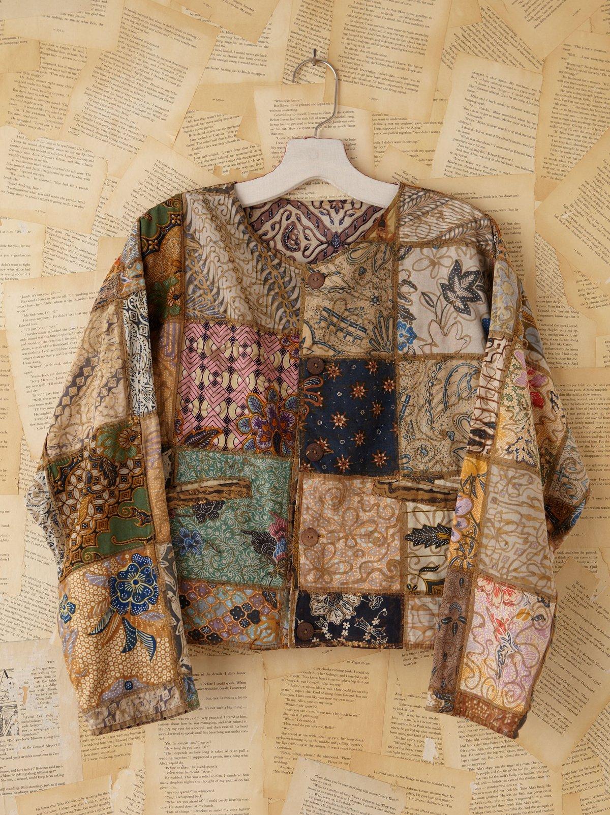 Vintage Batik Patchwork Jacket