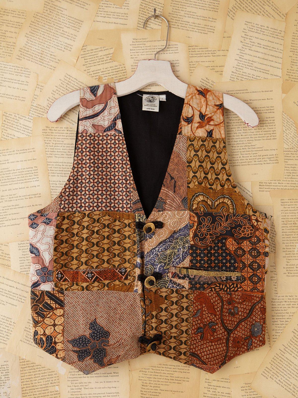 Vintage Batik Printed Vest