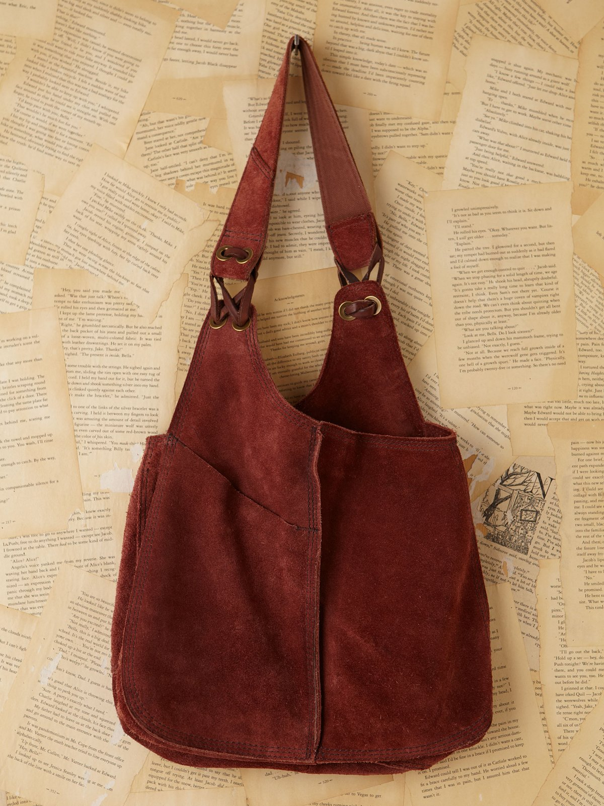 Vintage Suede Bucket Bag
