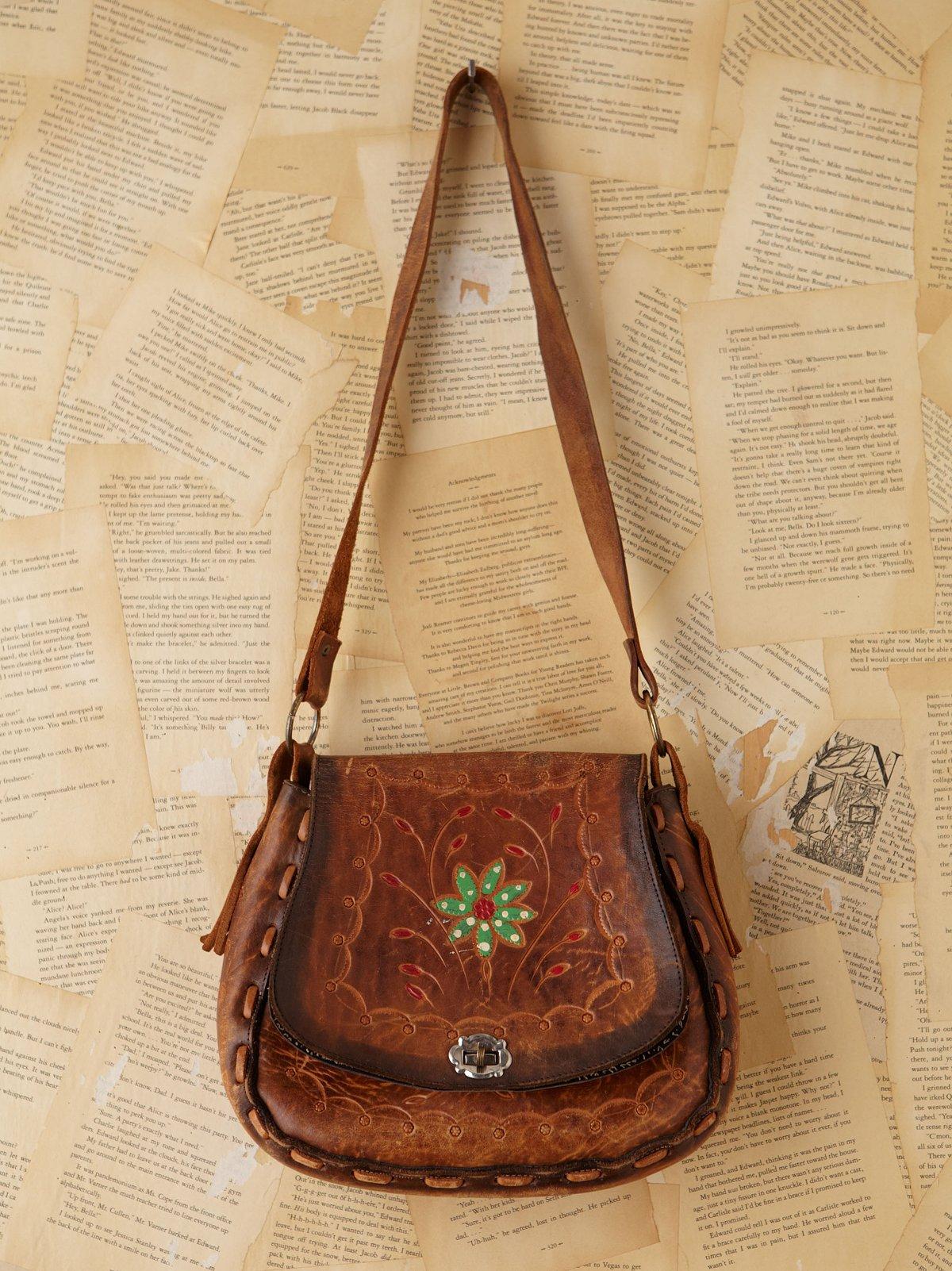 Vintage 1960s Hand-Tooled Bag