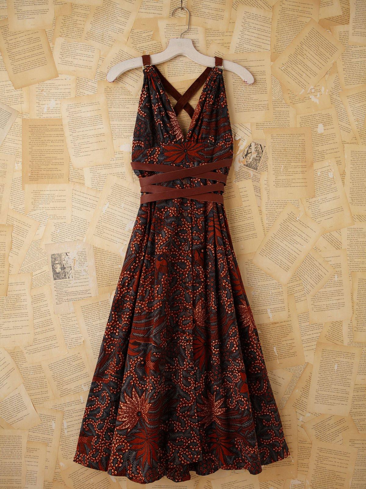 Vintage Batik Printed Maxi Dress