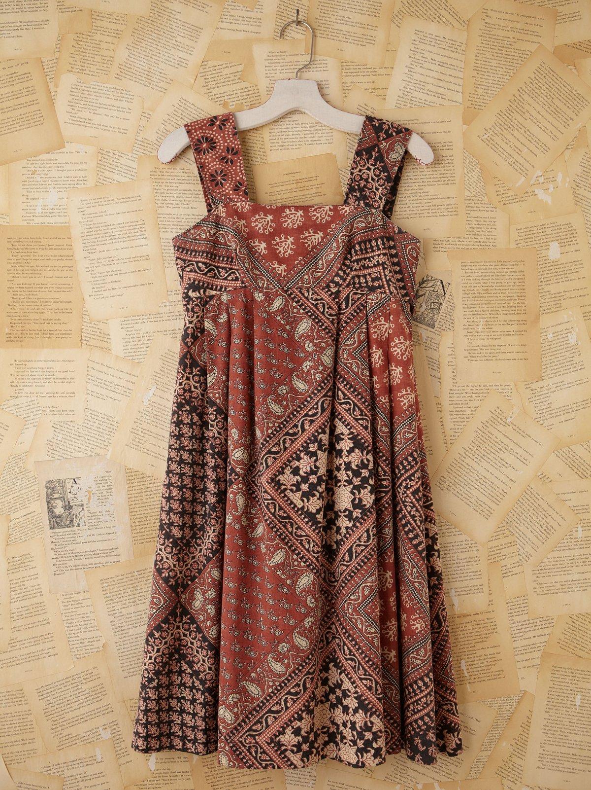 Vintage Batik Printed Dress