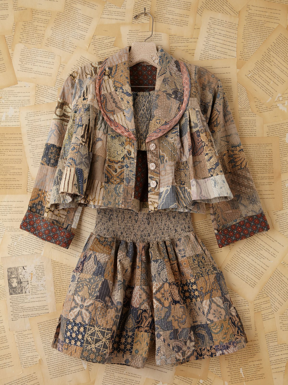 Vintage Batik Printed Three-Piece Set