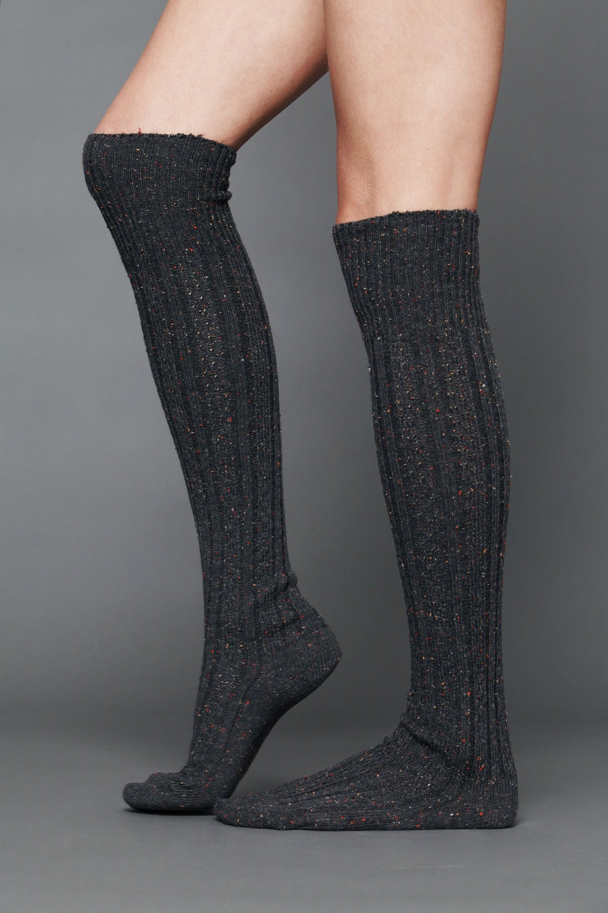 Speckled Spun Tall Sock