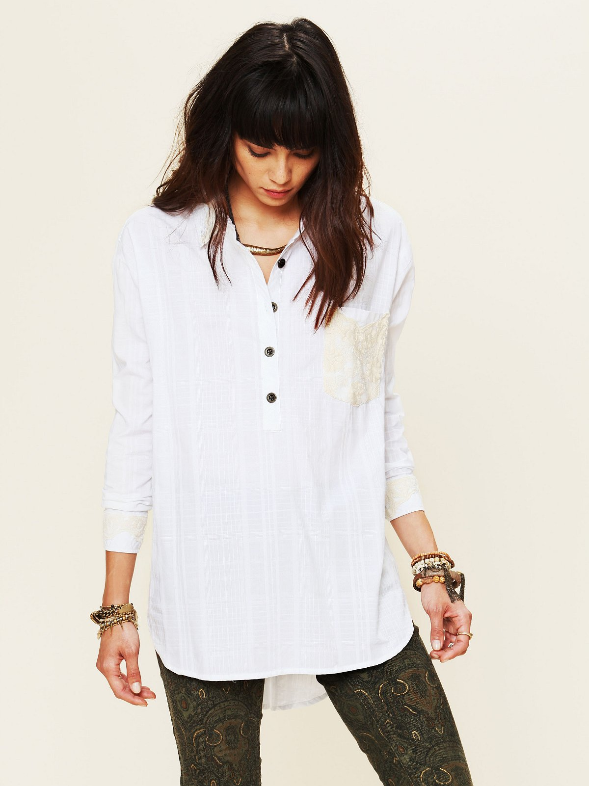 White Buttonfront Shirt