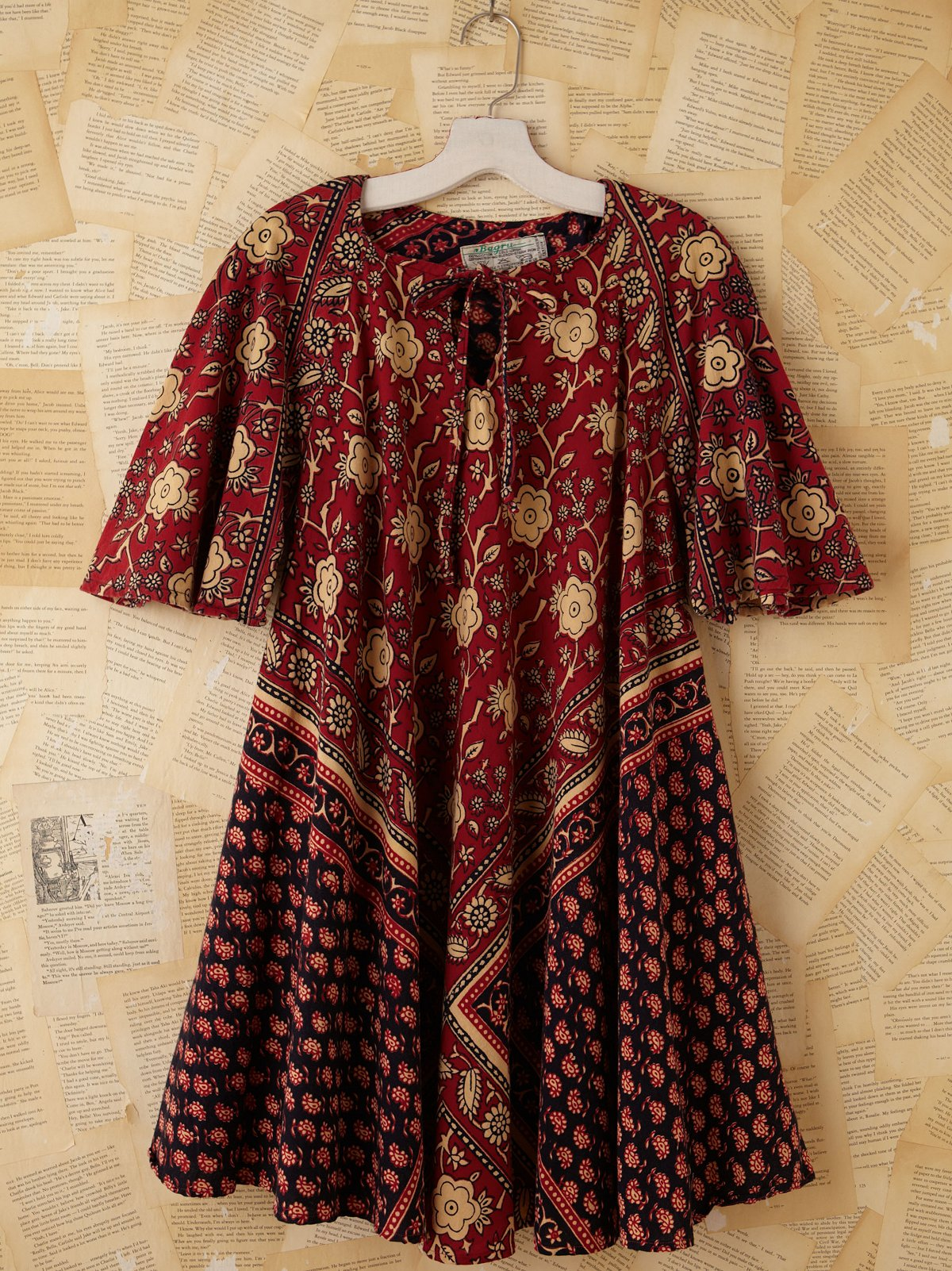 Vintage Floral Printed Tunic