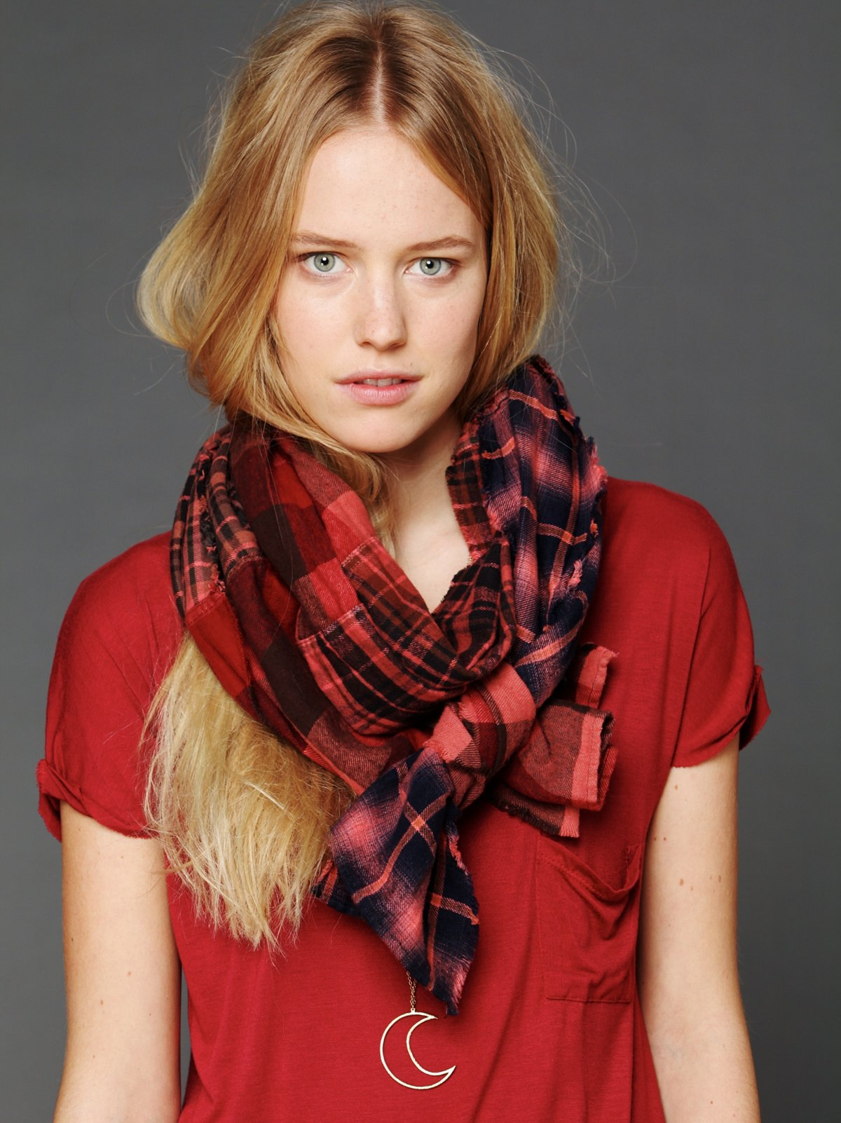 Vintage Check Studded Scarf