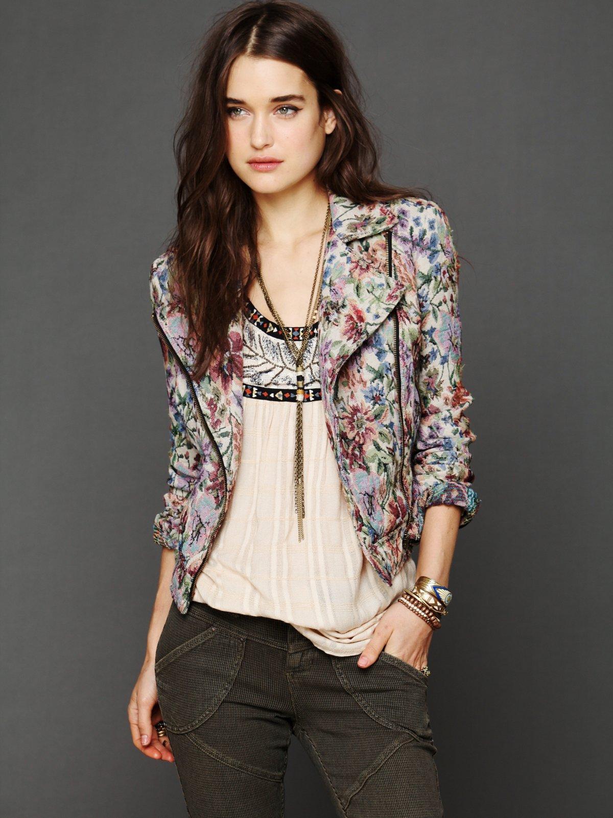 Tapestry Moto Jacket