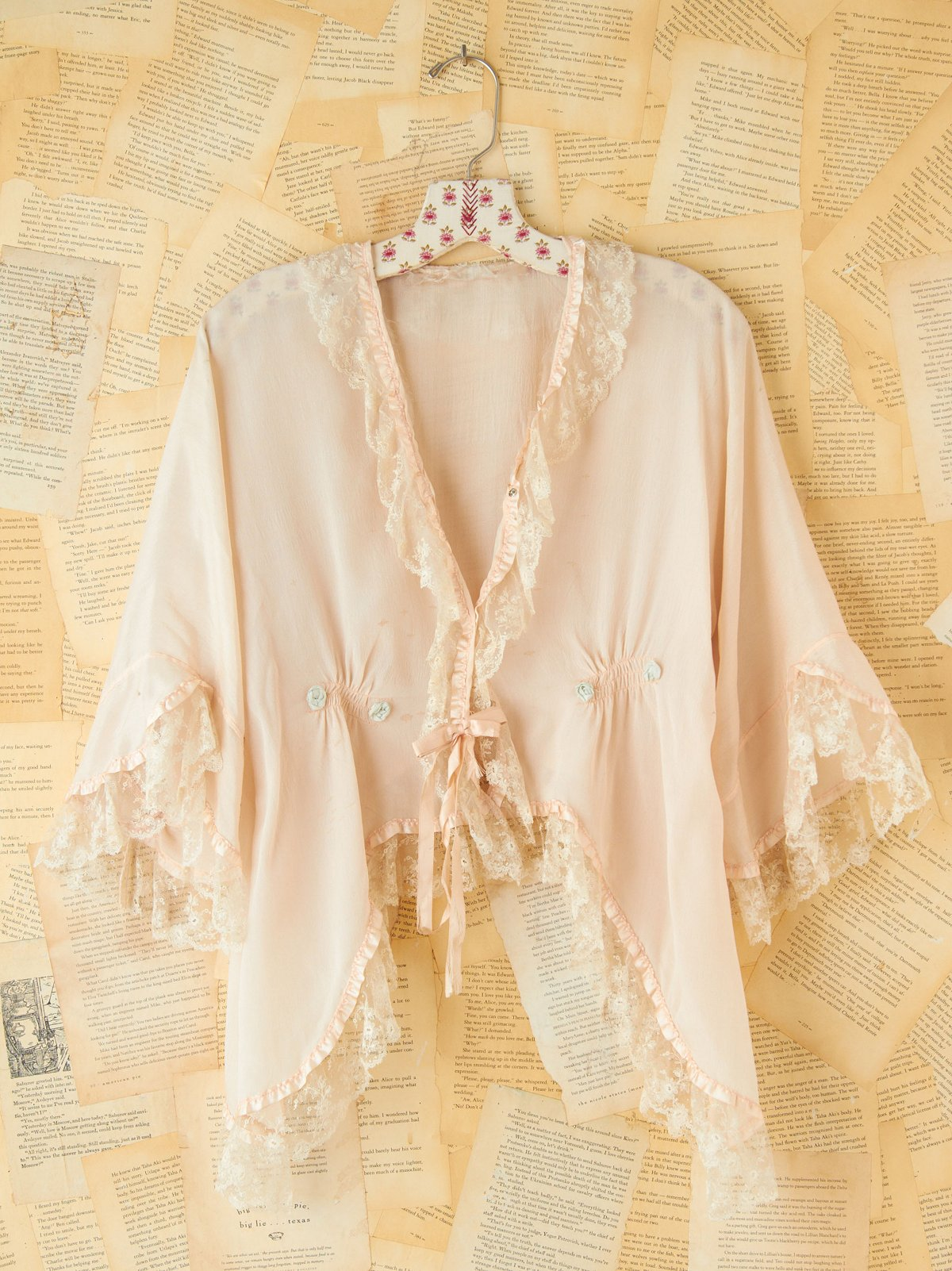 Vintage Silk Symmetrical Top
