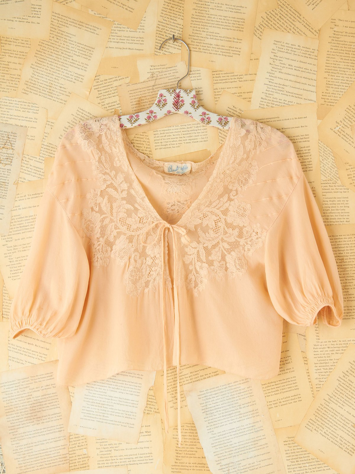 Vintage Ditsy Lace Crop Jacket