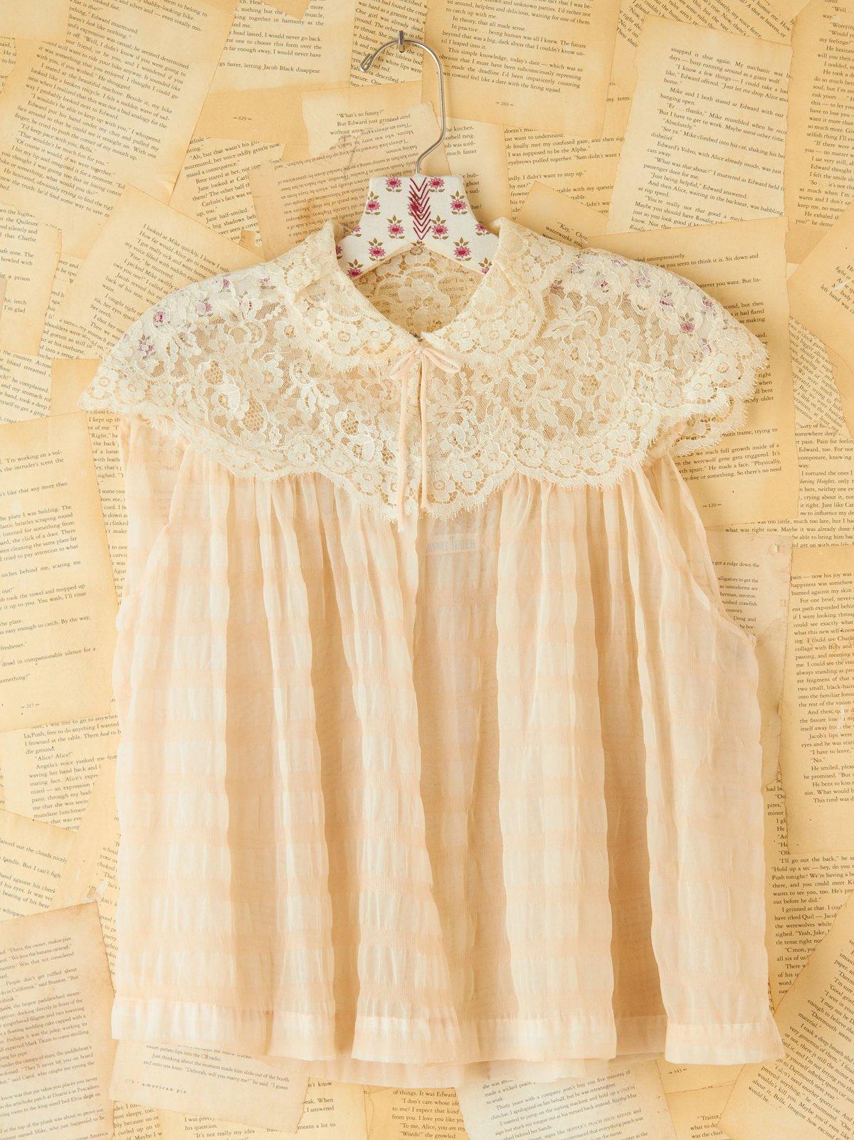 Vintage Sheer Lace Top