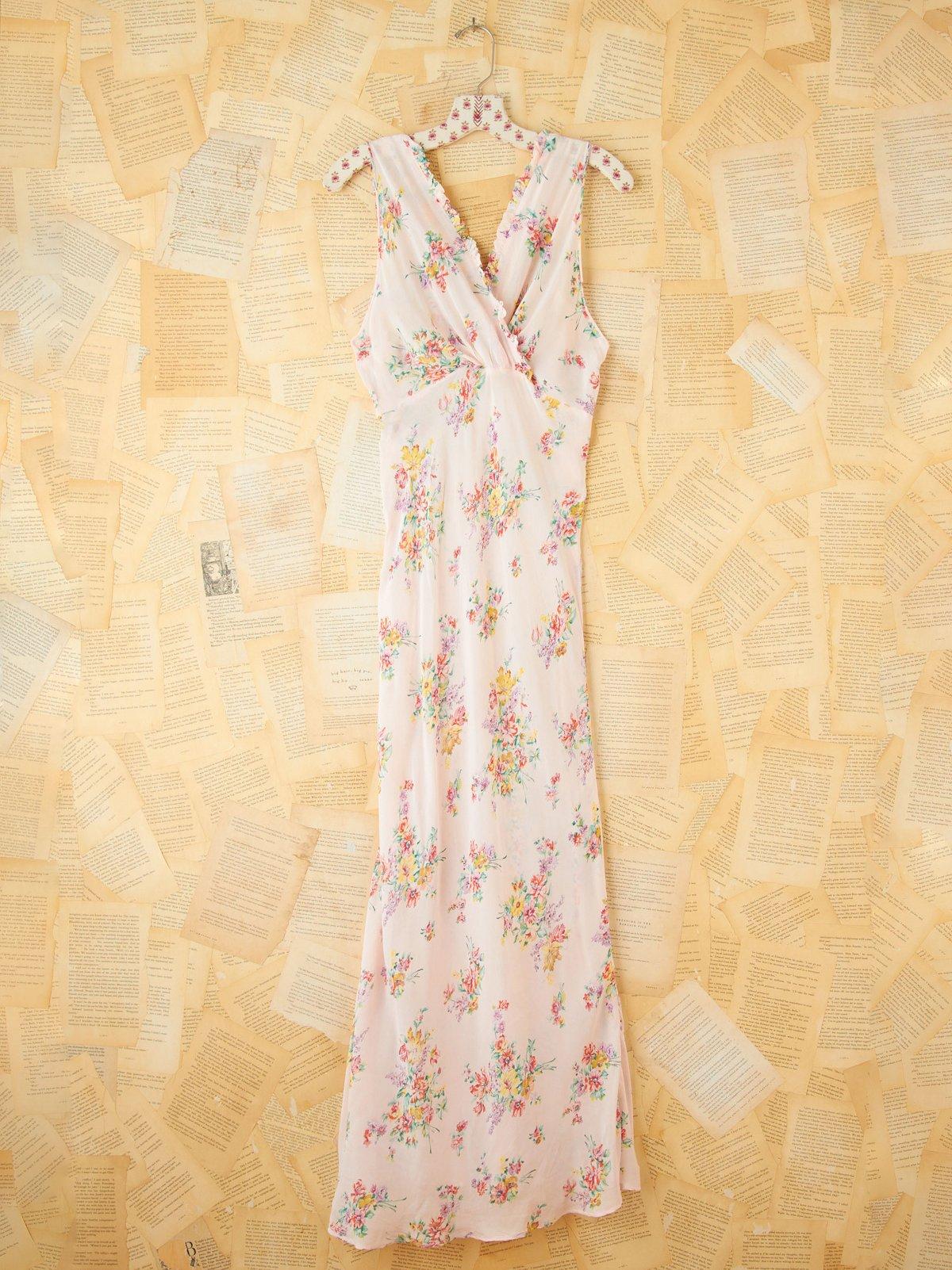 Vintage Floral Printed Slip Dress