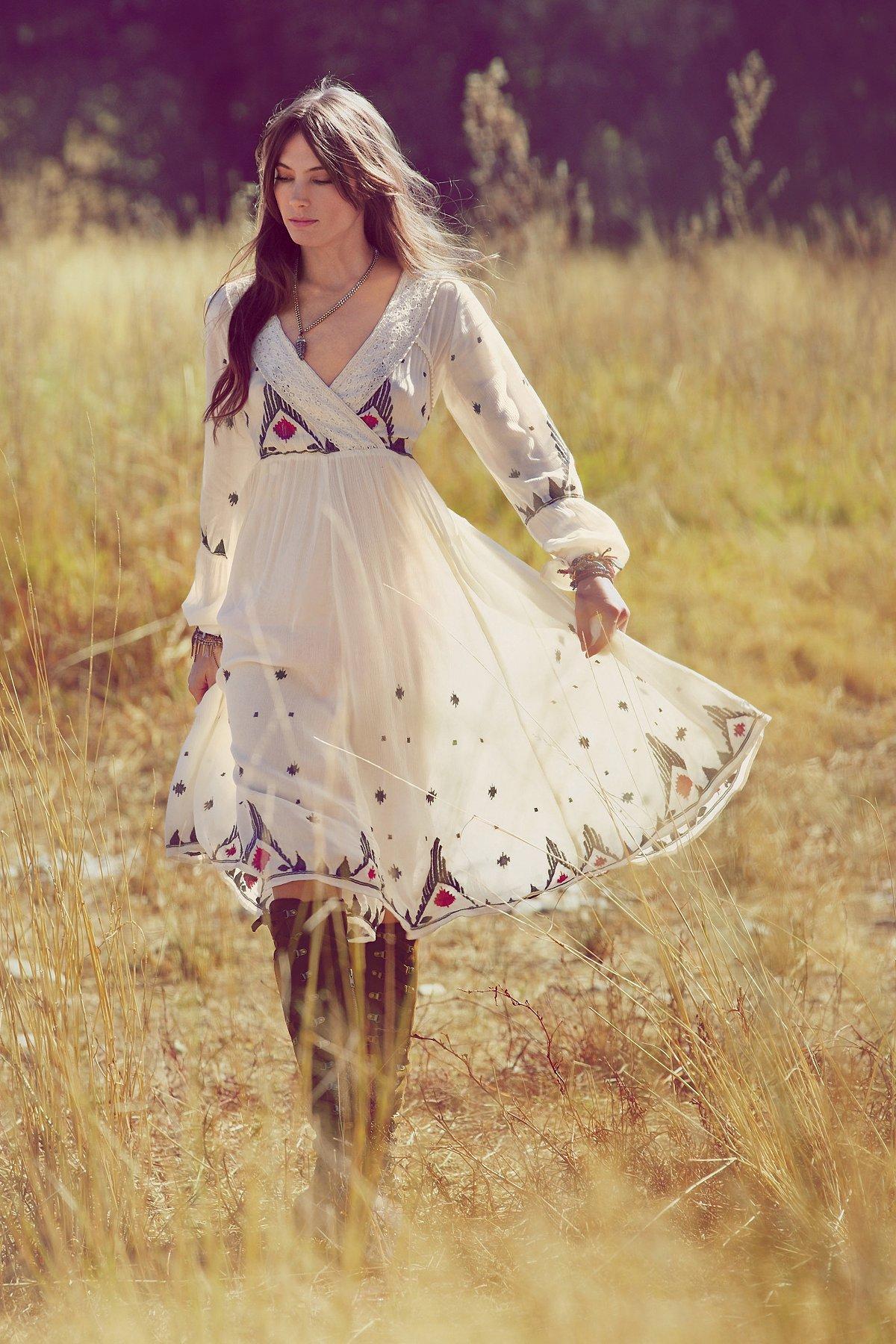 FP New Romantics Splendor in the Grass刺绣连衣裙
