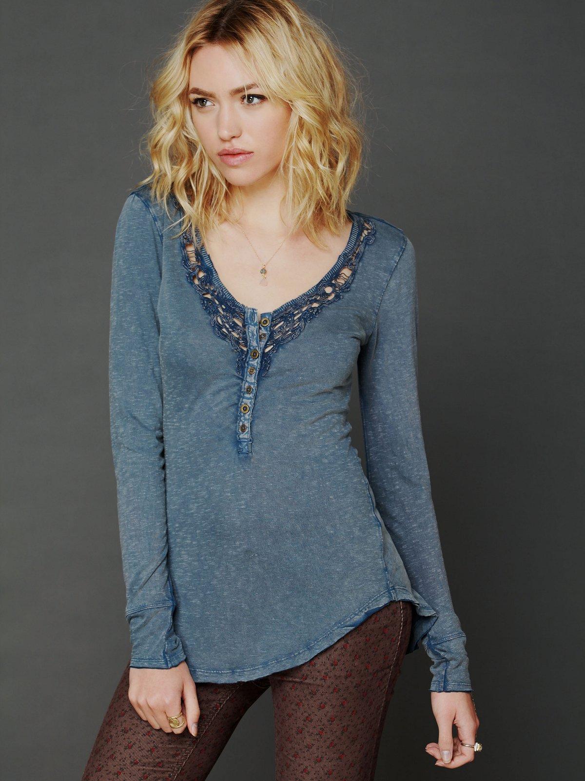 Lou Legacy Crochet Henley