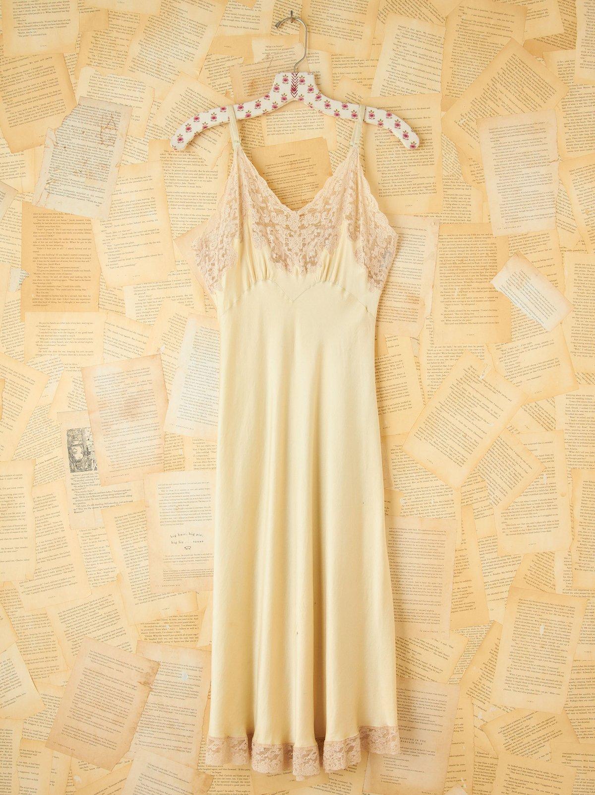 Vintage Pistachio Silk Slip