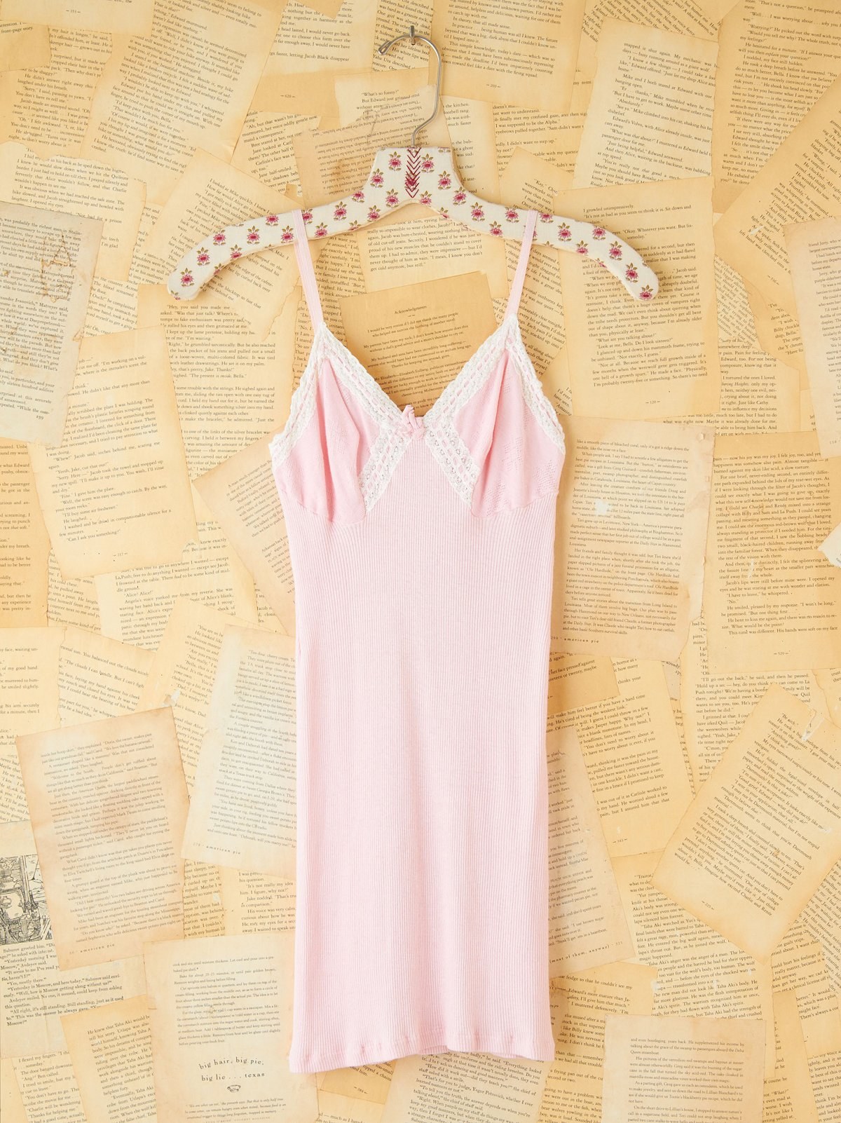 Vintage Pink Ribbed Slip