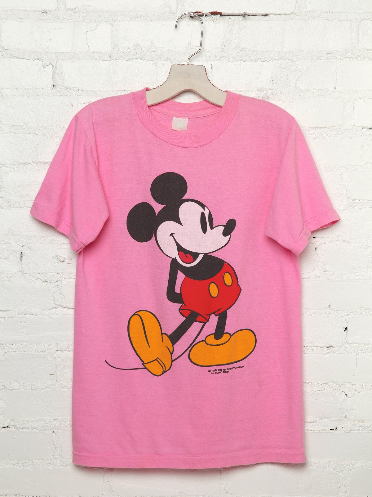 Vintage Hot Pink Mickey Mouse Tee