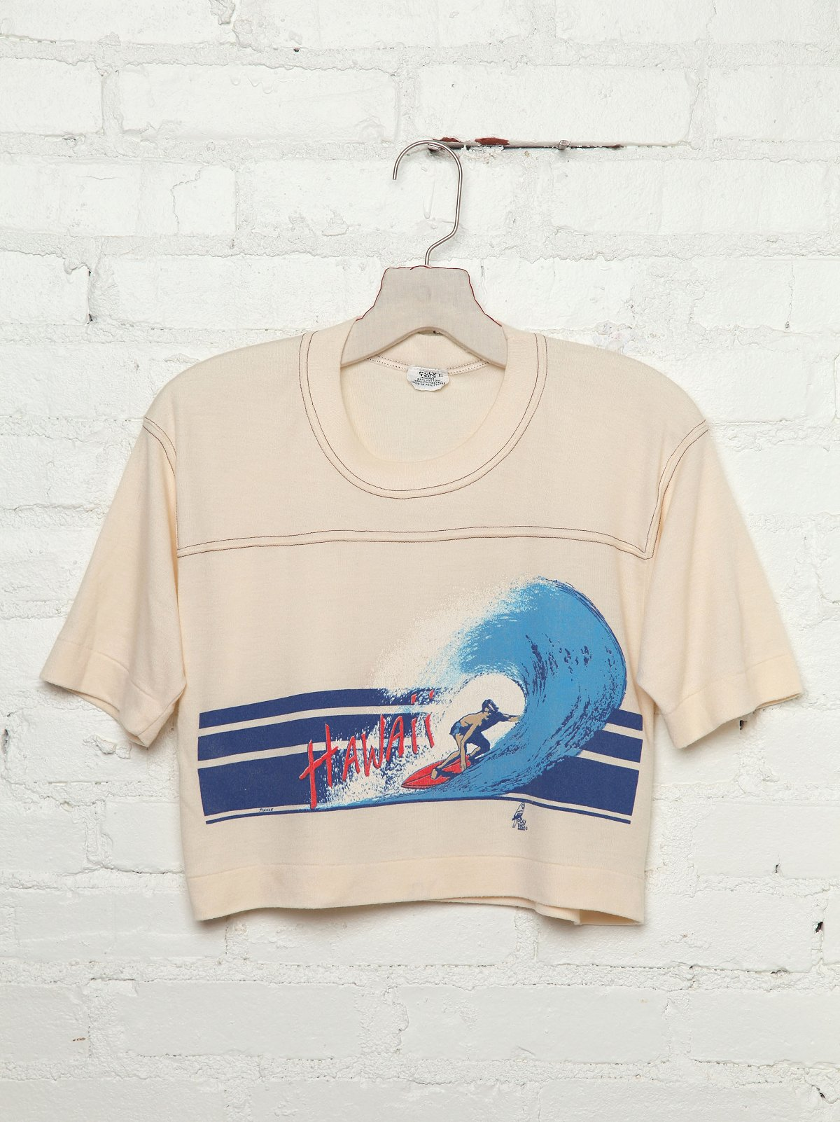 Vintage Surf Graphic Crop Tee