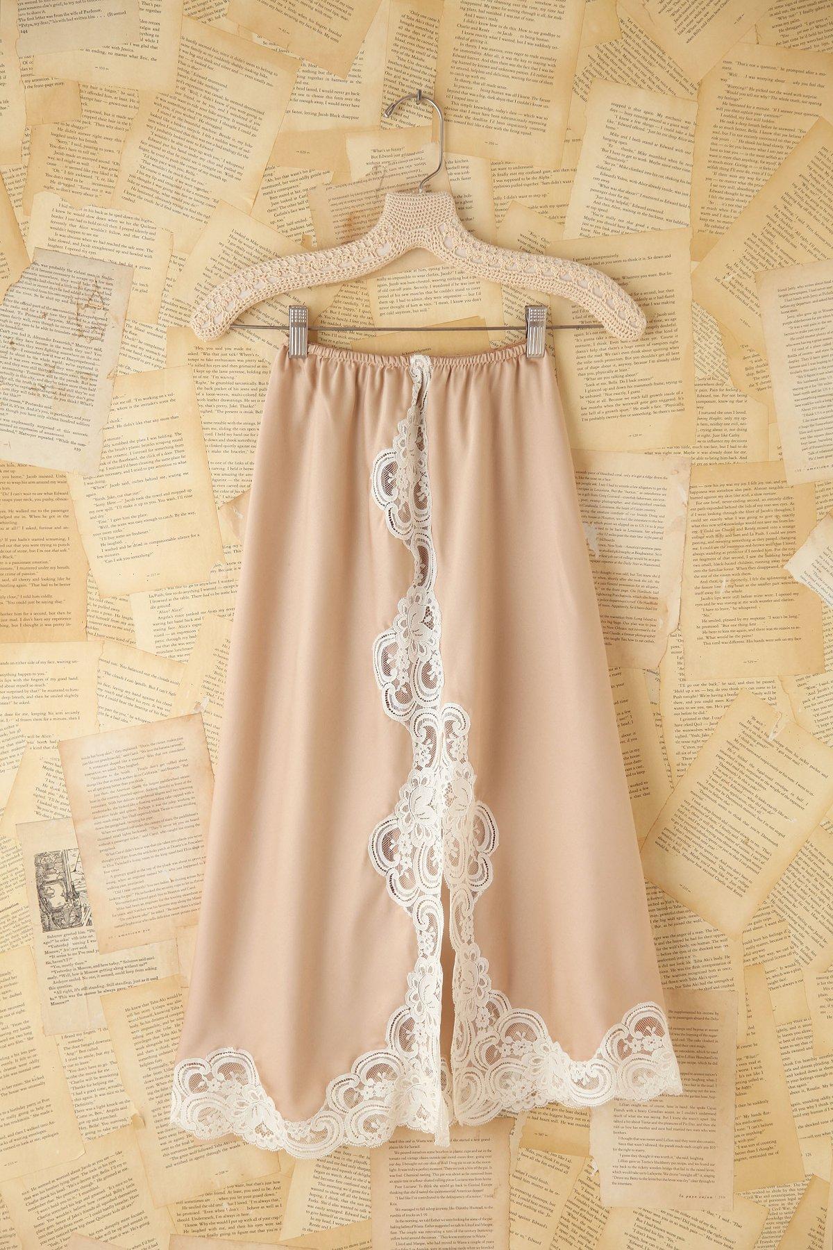 Vintage Silk Slip Skirt